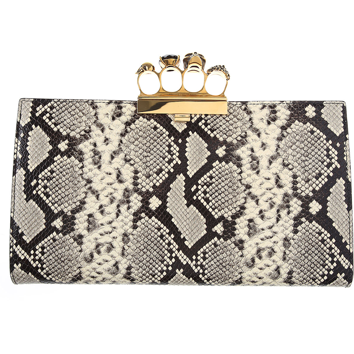 Alexander McQueen Clutch Bag On Sale, Rock, Leather, 2019