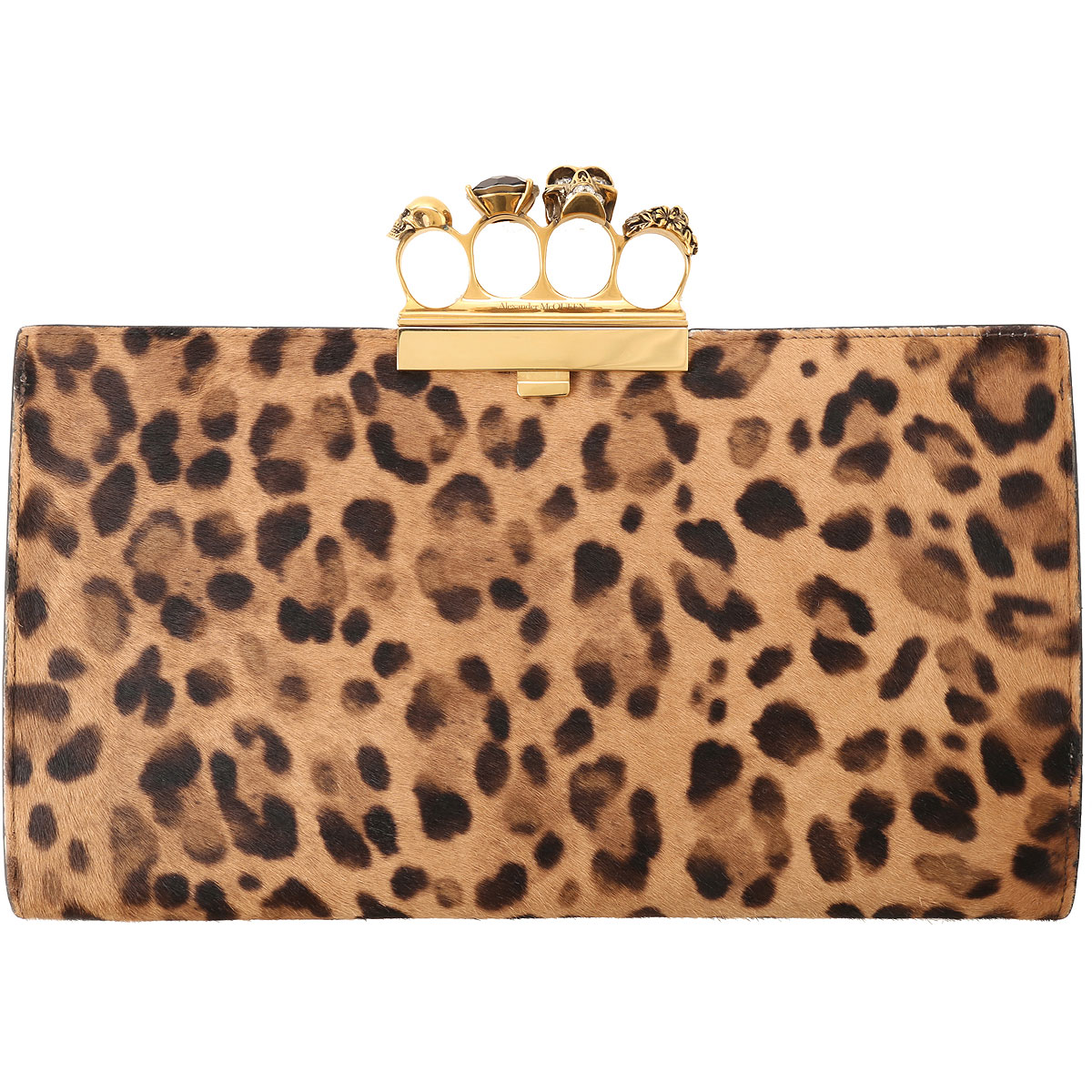 Alexander McQueen Clutch Bag On Sale, Leopard, Fur, 2019