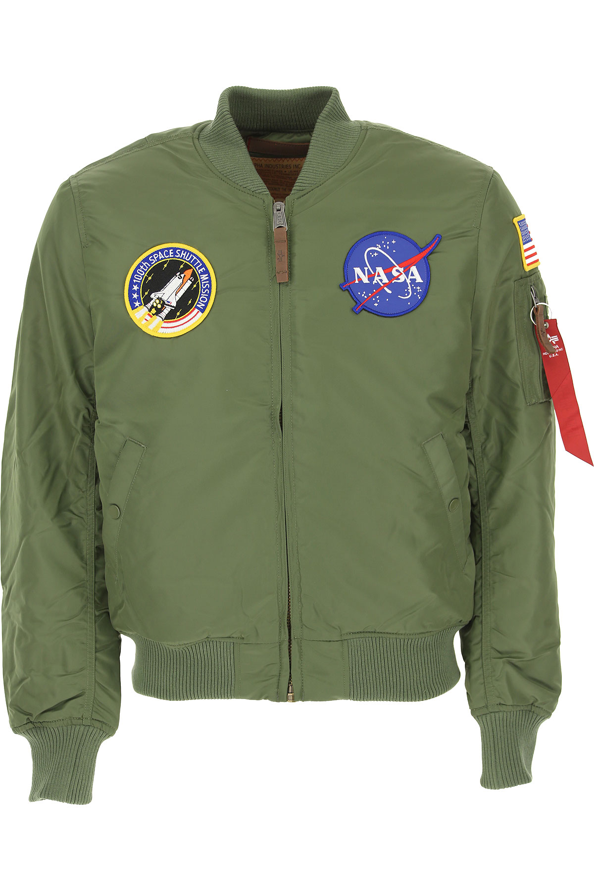 Image of Alpha Industries Jacket for Men, Military Green, polyester, 2017, L M S XL