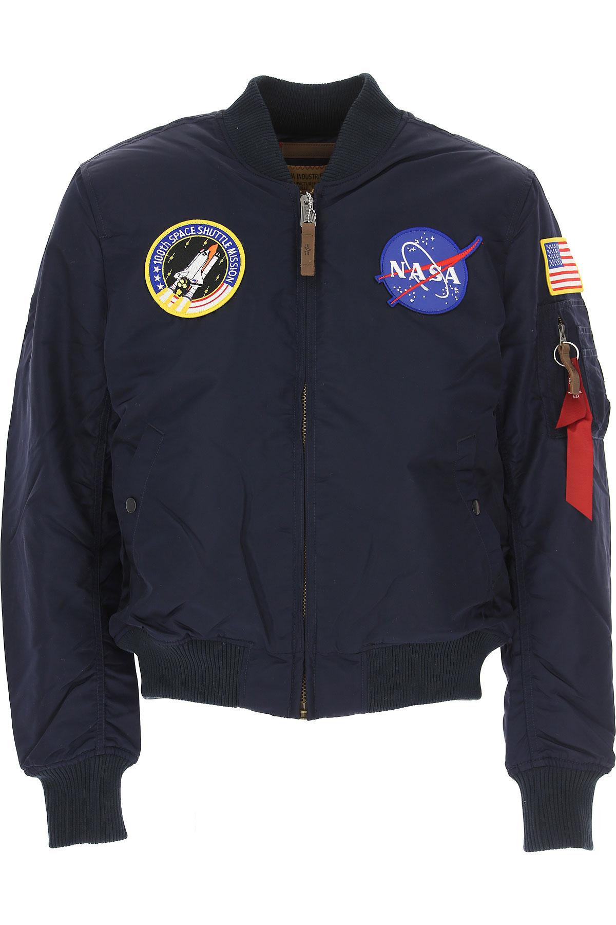 Image of Alpha Industries Jacket for Men, Dark Blue, polyester, 2017, L M S XL
