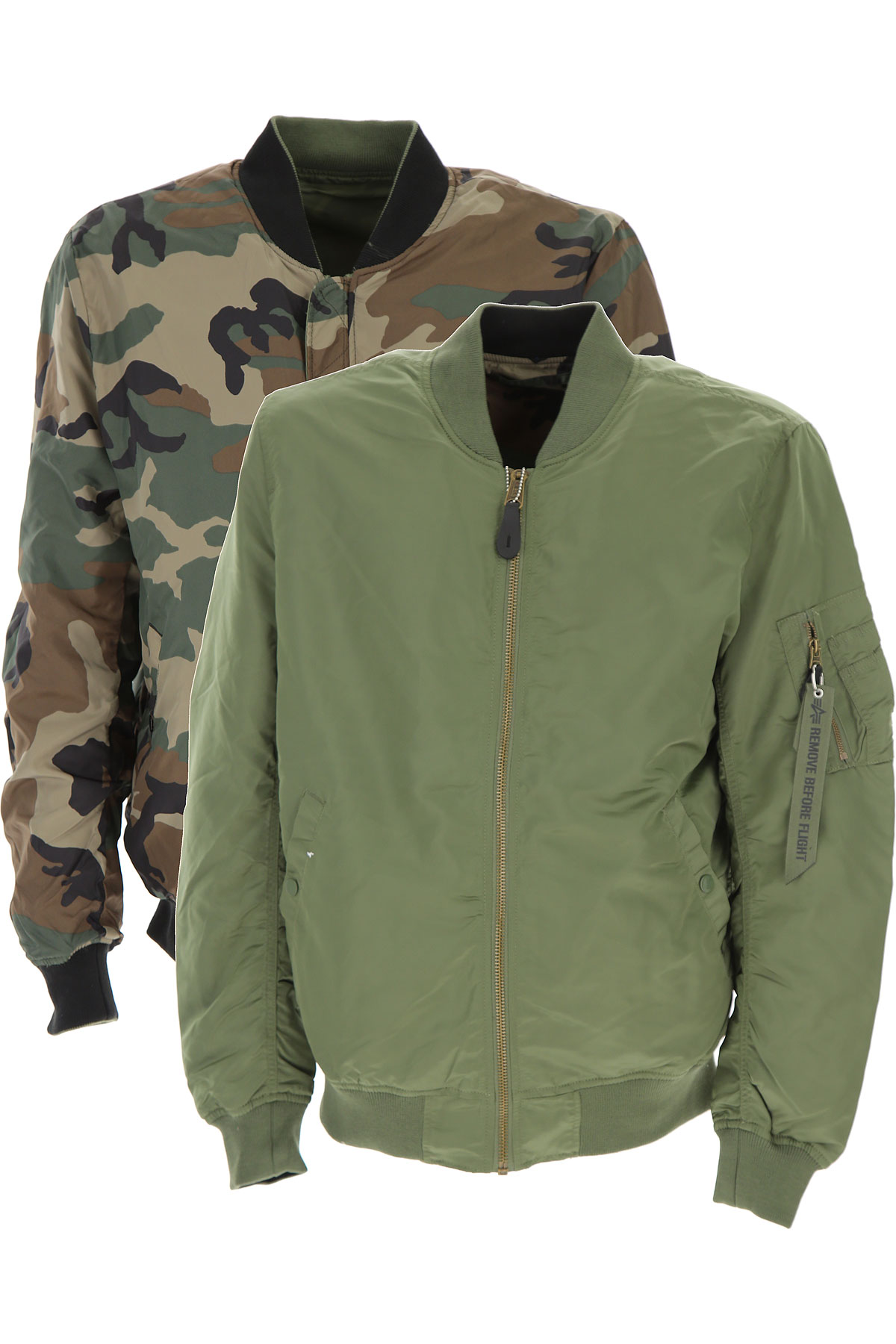 Image of Alpha Industries Jacket for Men On Sale, Military Green, Nylon, 2017, M XL