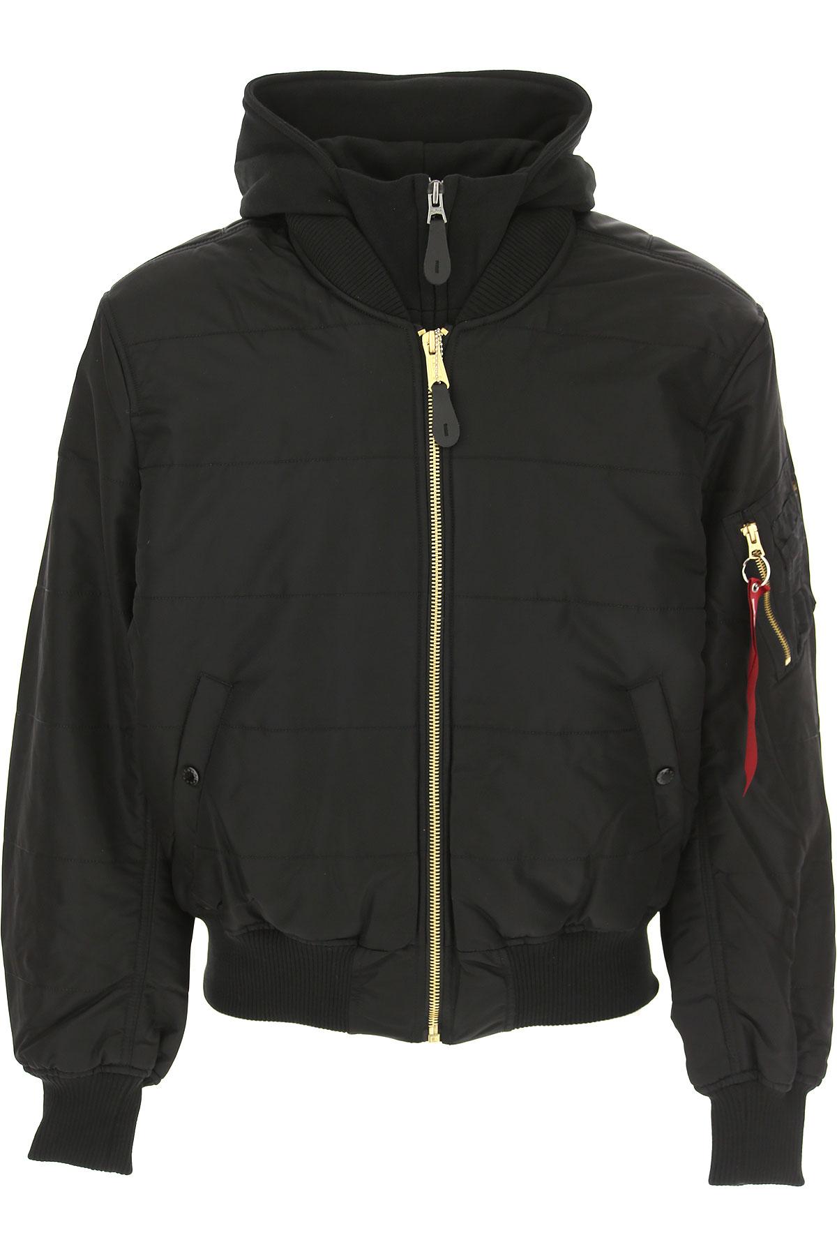 Image of Alpha Industries Jacket for Men, Black, polyester, 2017, L M S XL
