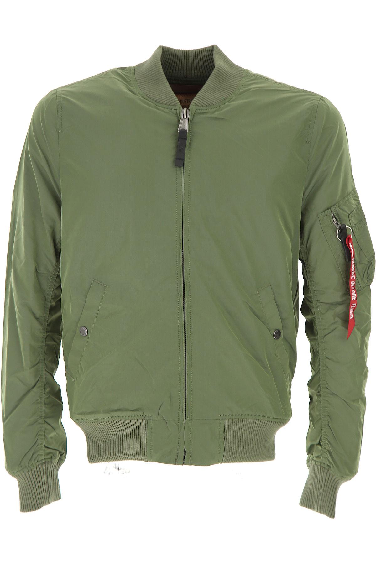 Image of Alpha Industries Jacket for Men On Sale, Sage Green, Nylon, 2017, L S
