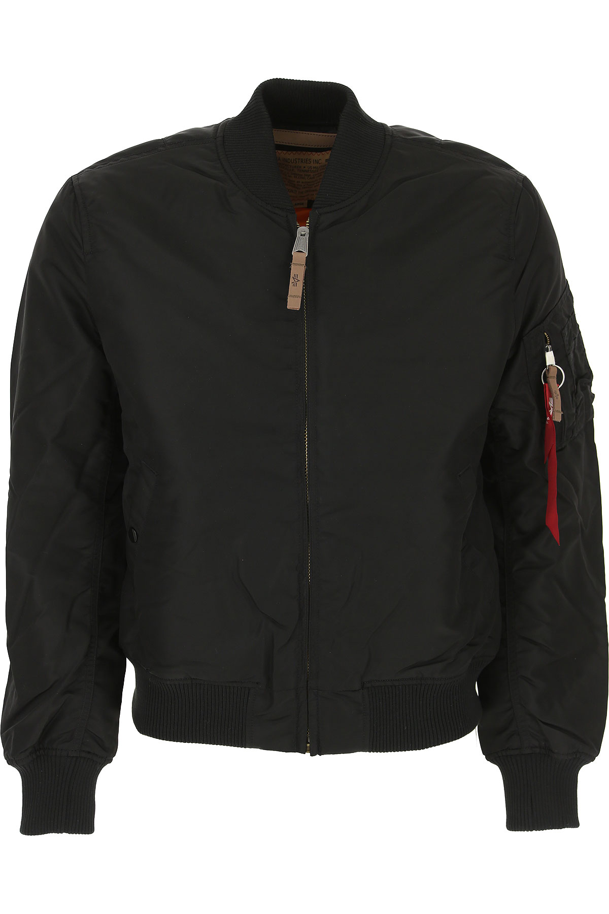 Image of Alpha Industries Jacket for Men, Black, Nylon, 2017, L M S XL XXL