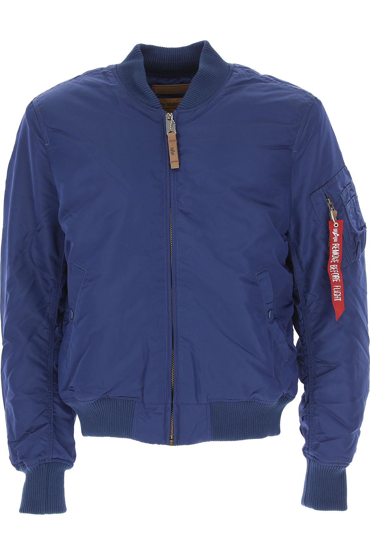 Image of Alpha Industries Jacket for Men, Ocean Blue, polyester, 2017, L M S XL