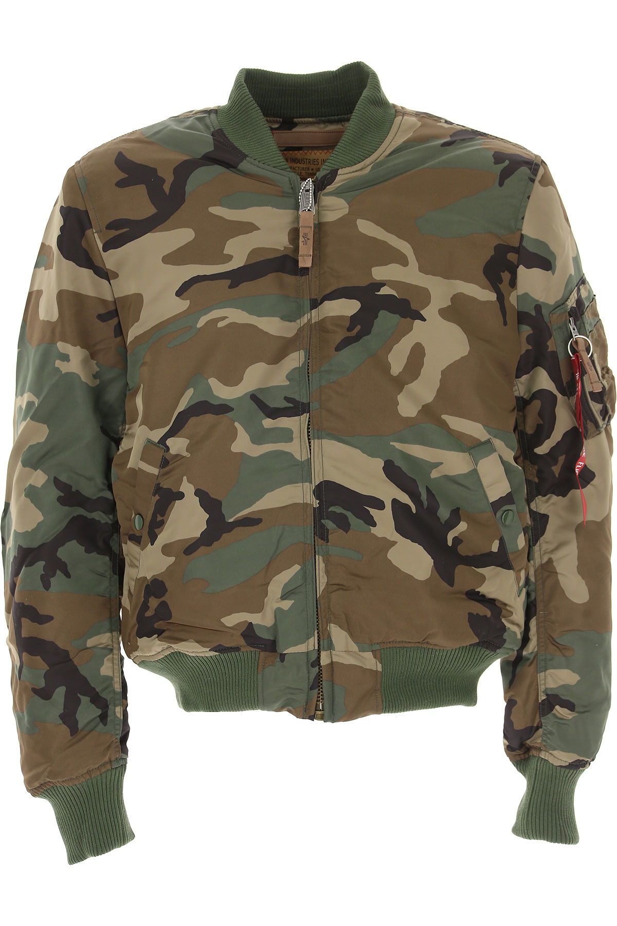Image of Alpha Industries Jacket for Men, camouflage, polyester, 2017, L M S XL