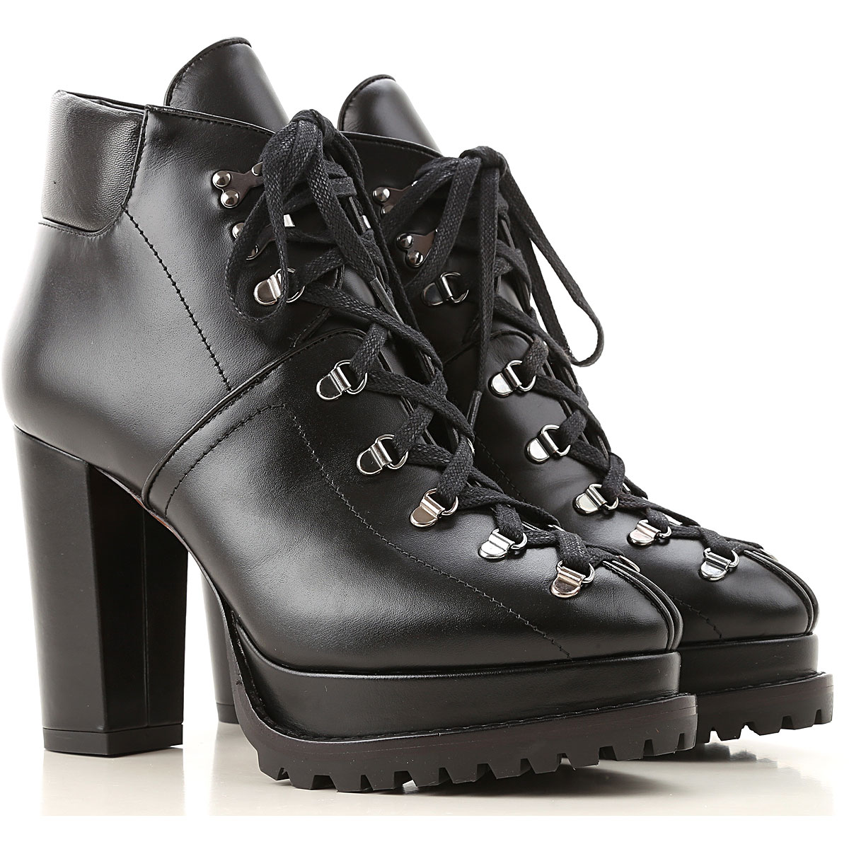 Alaia Boots for Women, Booties On Sale, Black, Leather, 2019, 10 8 9
