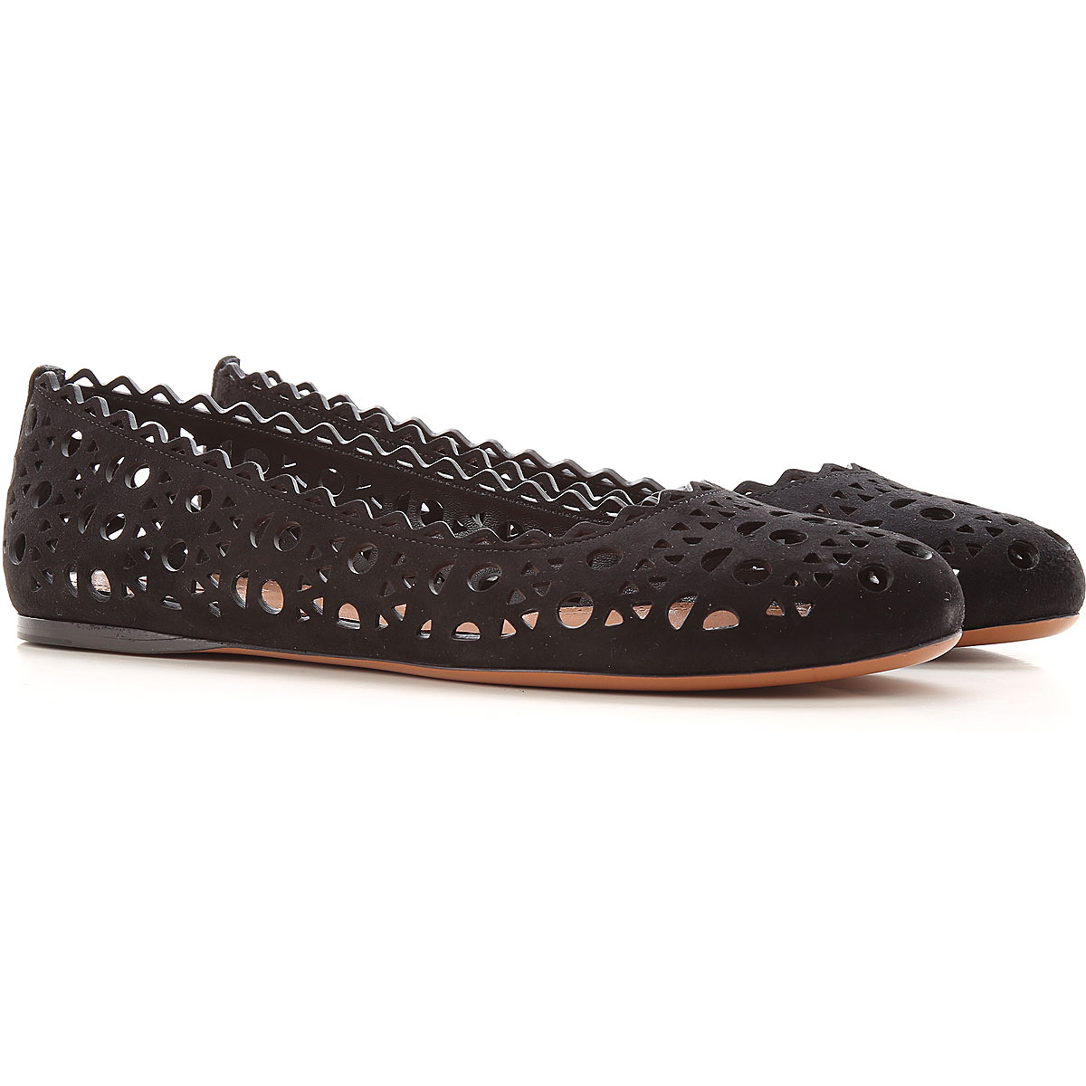 Alaia Ballet Flats Ballerina Shoes for Women On Sale, Black, Leather, 2019, 10 6 7 8.5 9