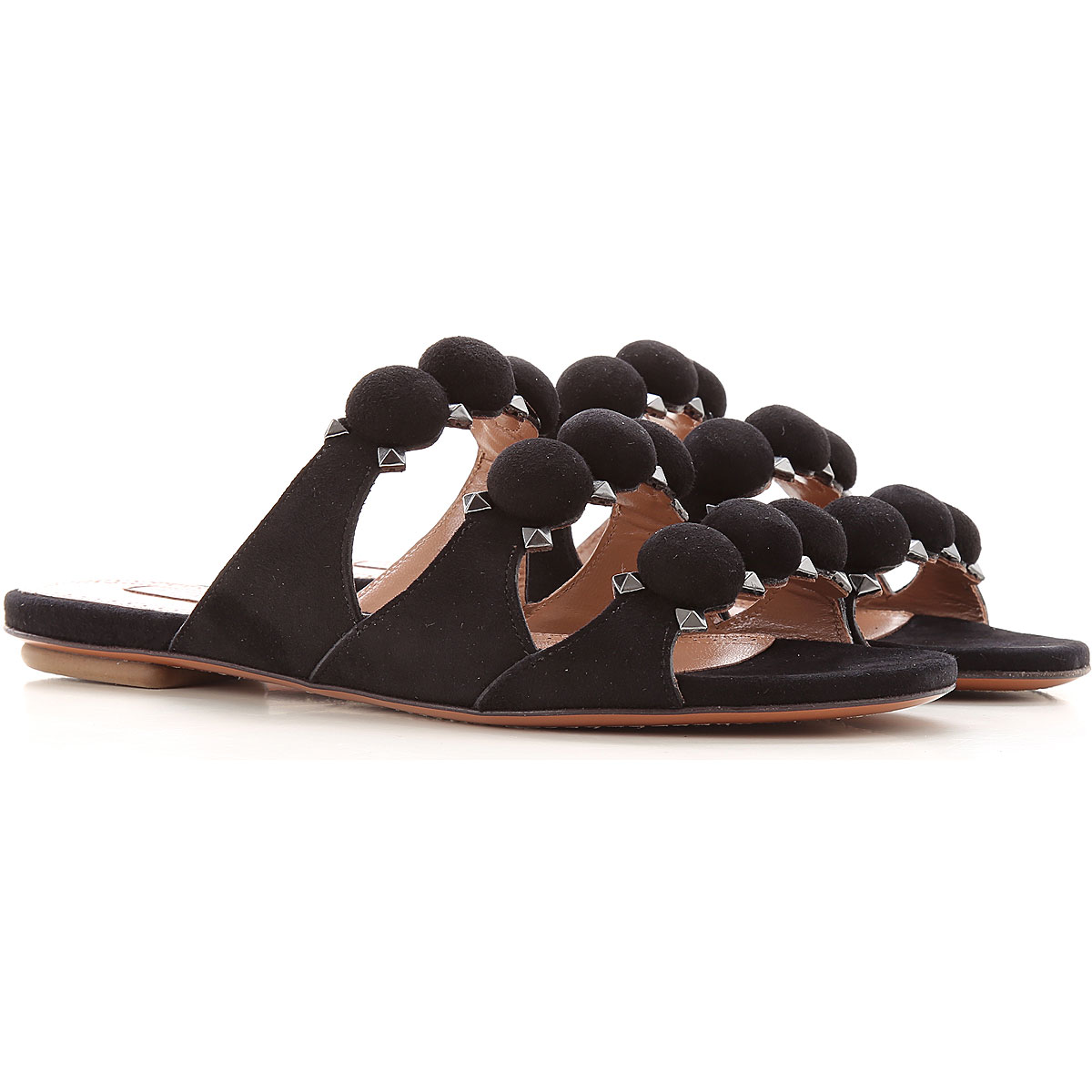 Alaia Sandals for Women On Sale, Black, Suede leather, 2019, 10 6 7