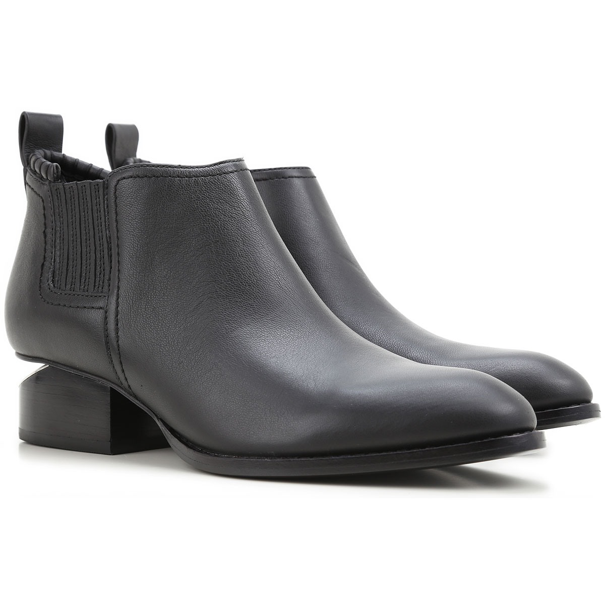 Image of Alexander Wang Boots for Women, Booties, Black, Leather, 2017, 5 5.5 6.5 7 8.5