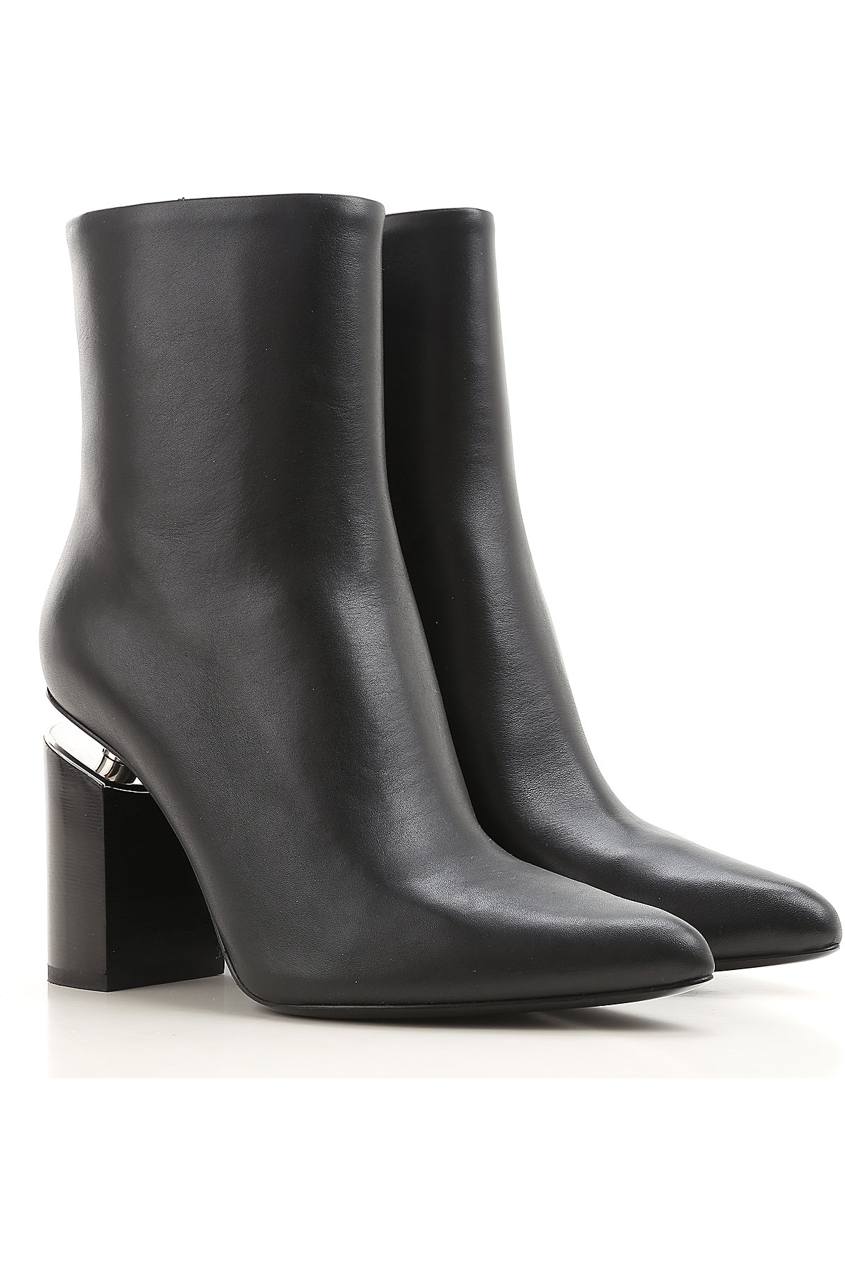 Image of Alexander Wang Womens Shoes, Black, Leather, 2017, 6 7 8 9