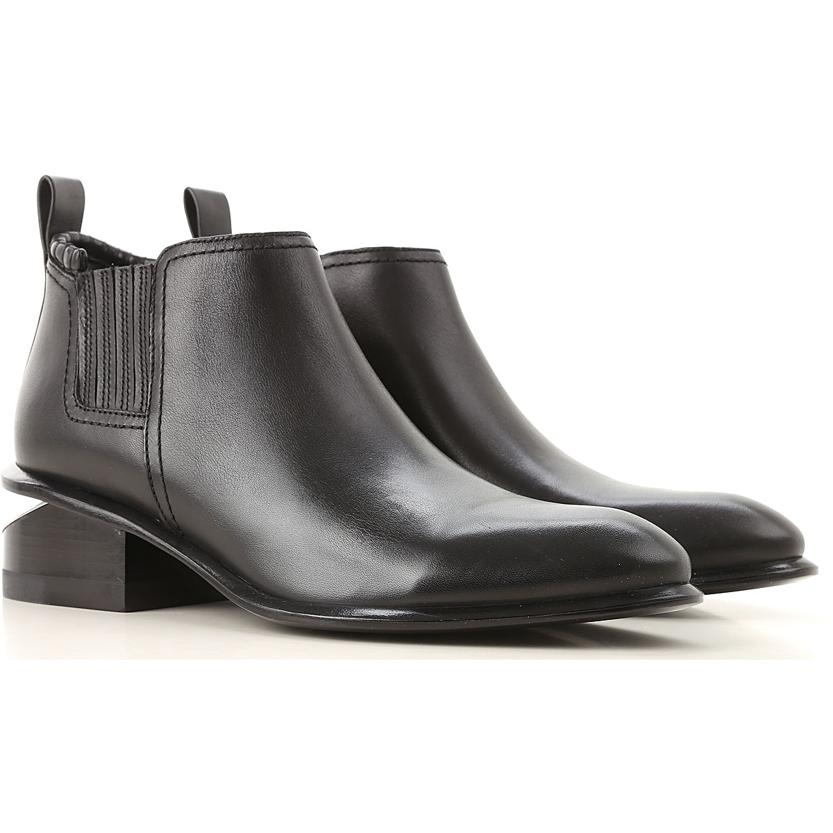 Alexander Wang Boots for Women, Booties On Sale, Black, Leather, 2019, 11 6 8.5 9