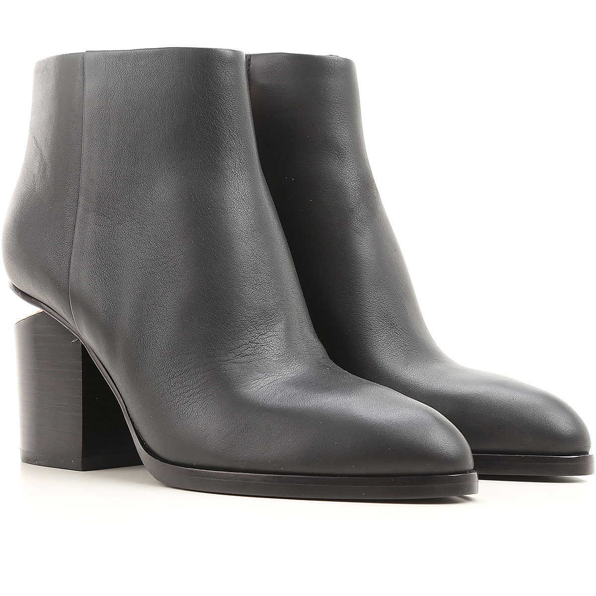 Image of Alexander Wang Boots for Women, Booties, Black, Leather, 2017, 10 5 5.5 6 6.5 7 8 8.5 9