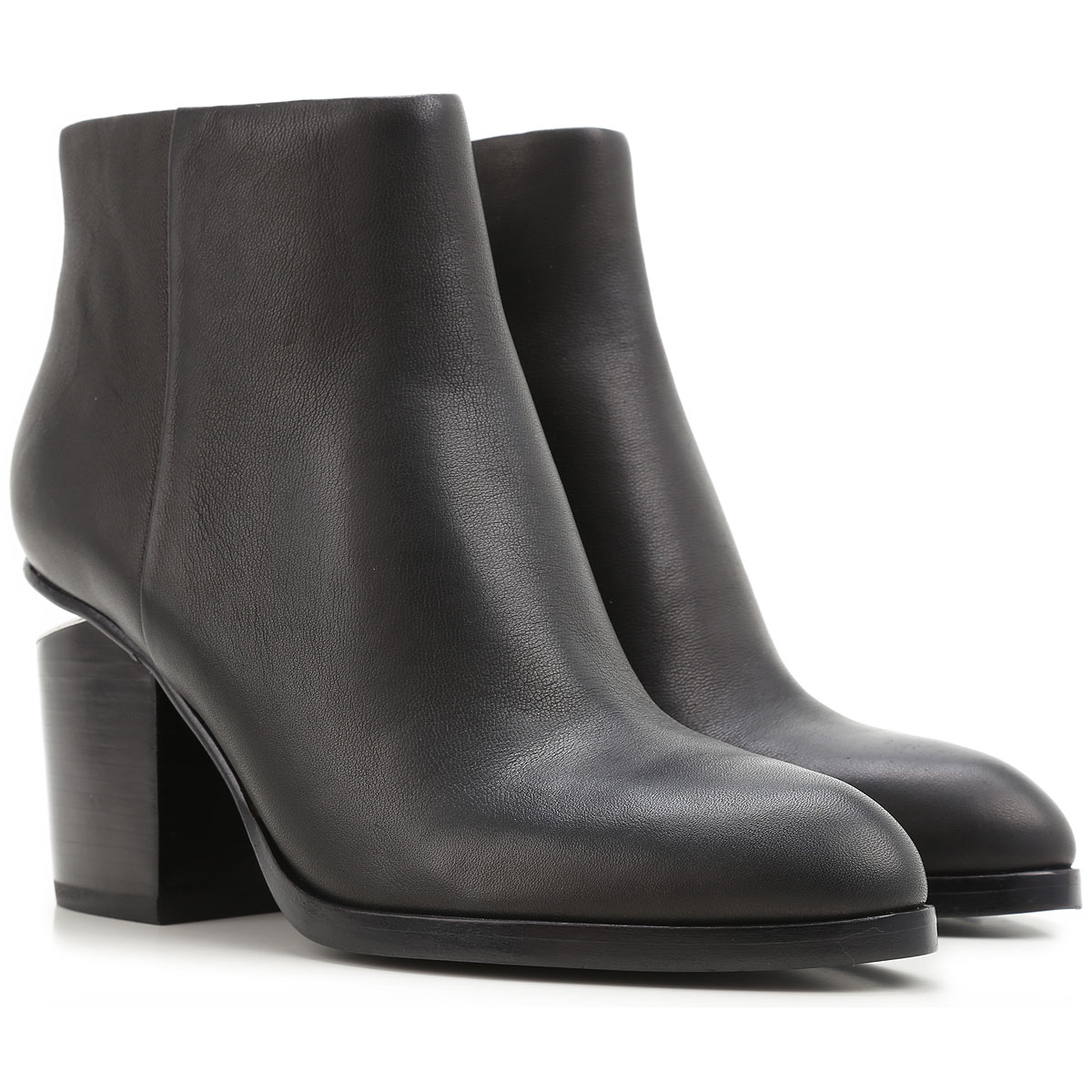Image of Alexander Wang Boots for Women, Booties On Sale in Outlet, Black, Leather, 2017, 5 5.5 6 6.5 7 8.5 9