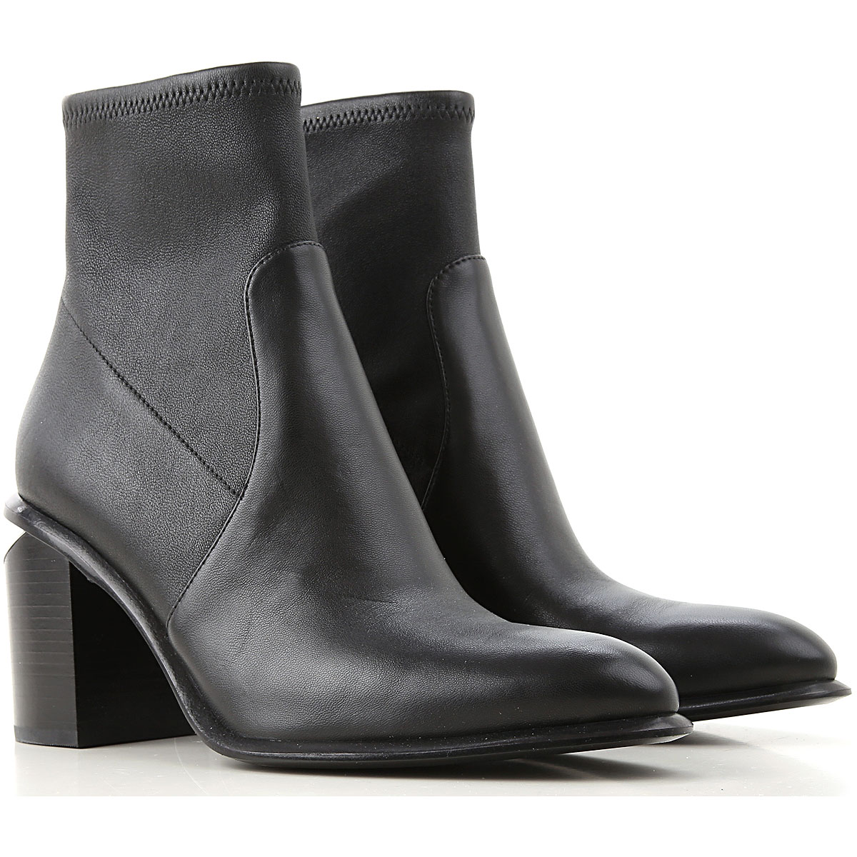Alexander Wang Boots for Women, Booties On Sale, Black, Leather, 2019, 11 8 8.5