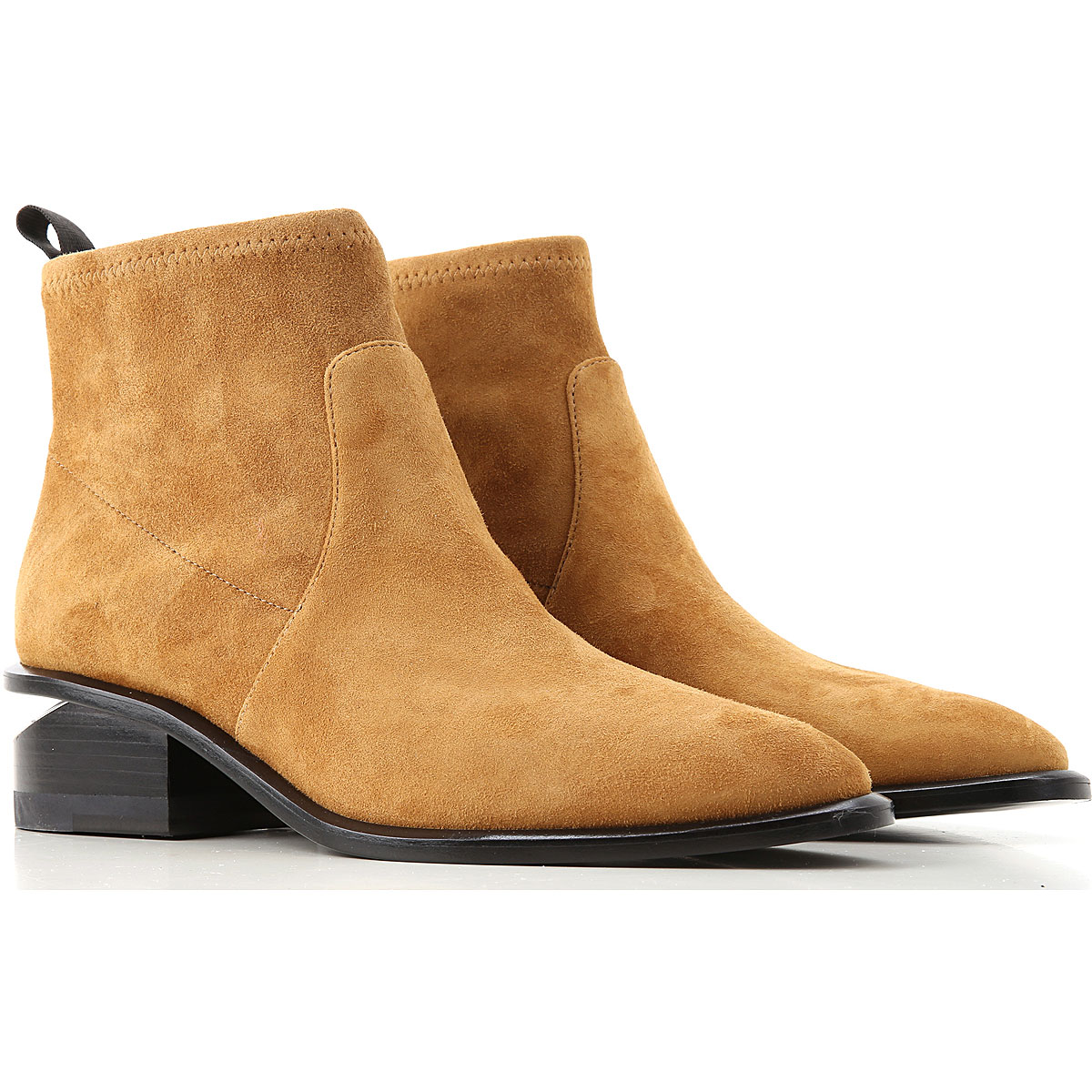 Alexander Wang Boots for Women, Booties On Sale, Camel, Suede leather, 2019, 10 8 8.5 9