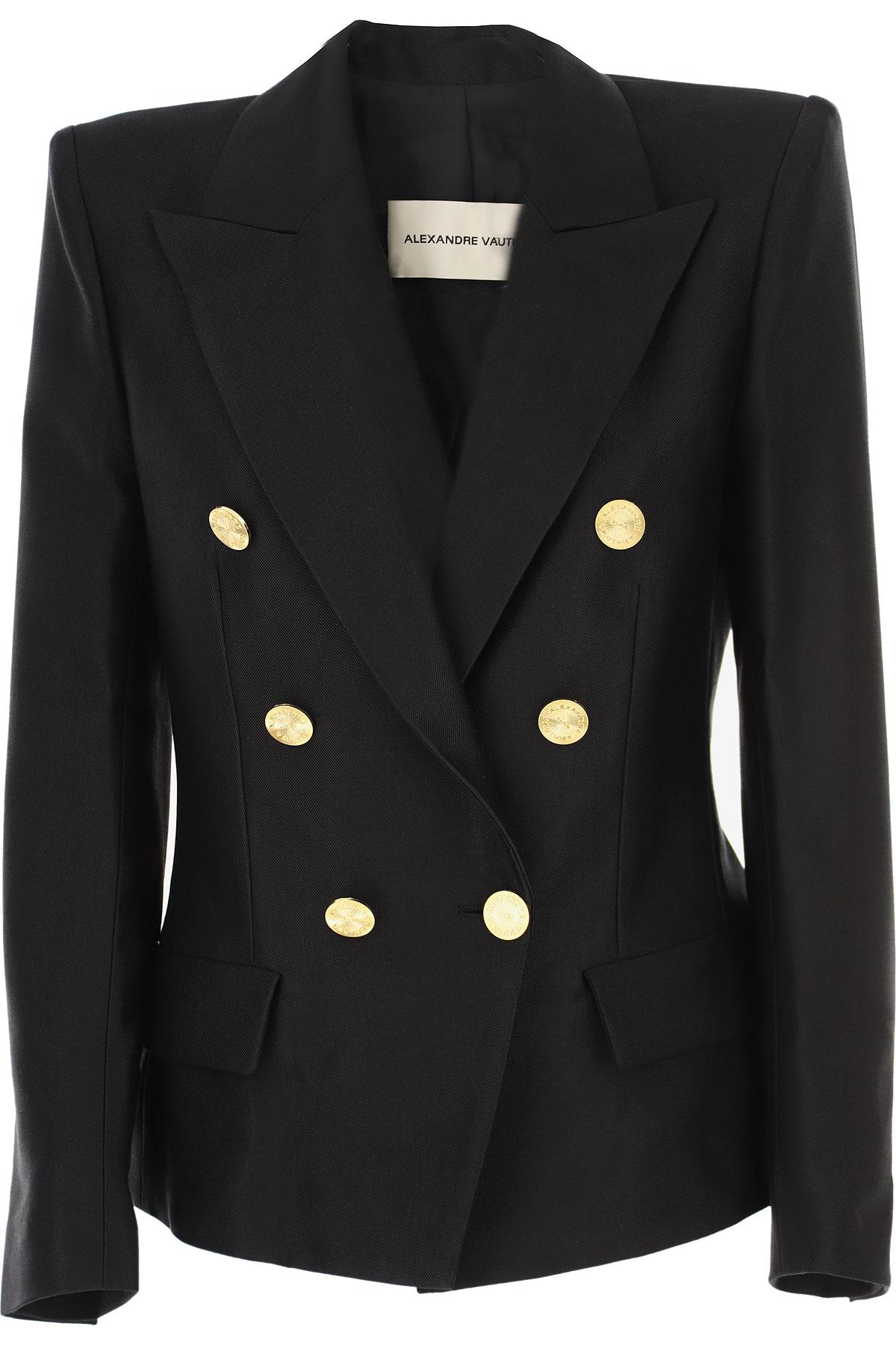 Alexandre Vauthier Blazer for Women On Sale, Black, Cotton, 2019, 2 4