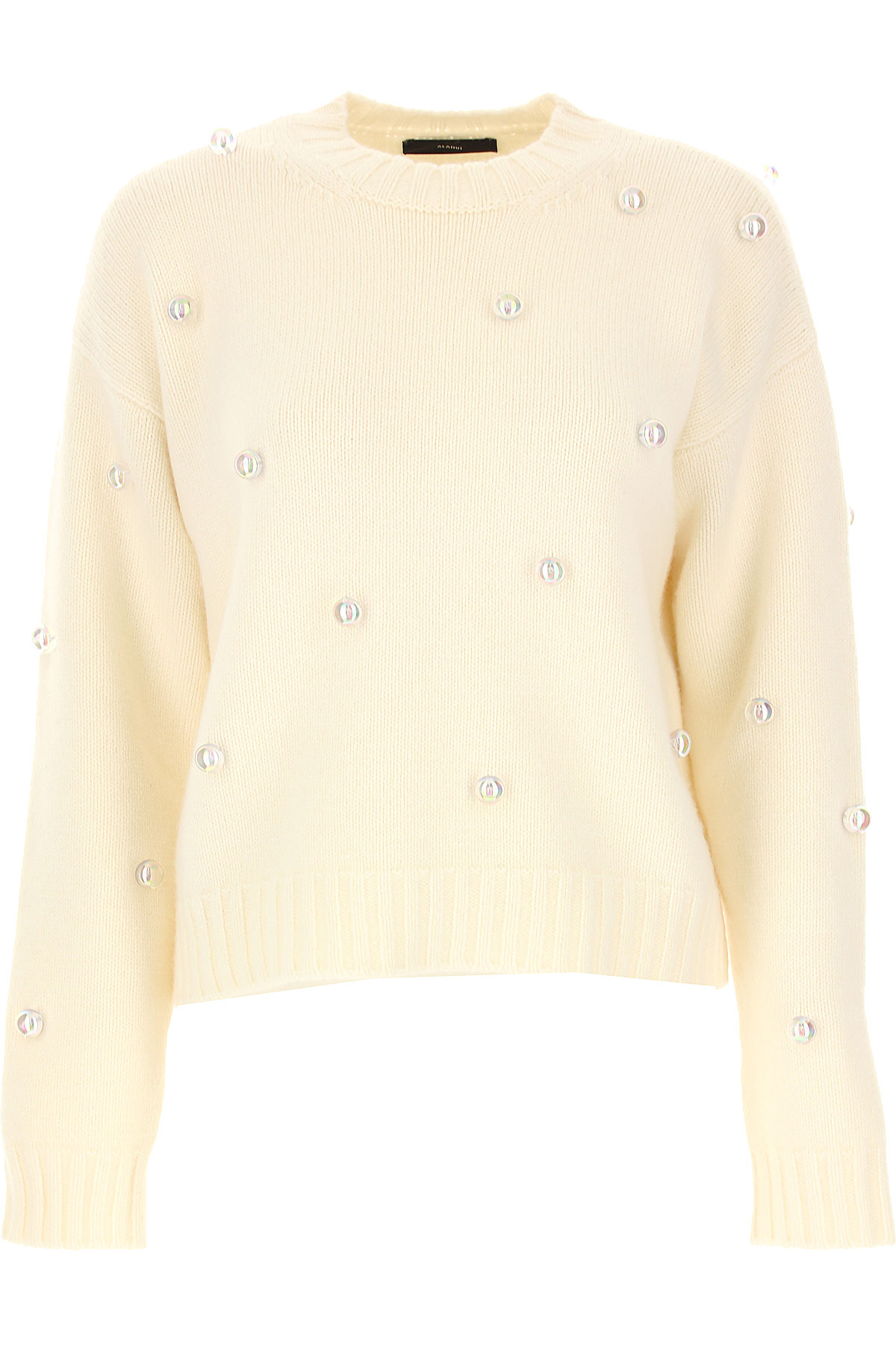 ALANUI Sweater for Women Jumper On Sale, White, Cashemere, 2019, 2 4 6 8