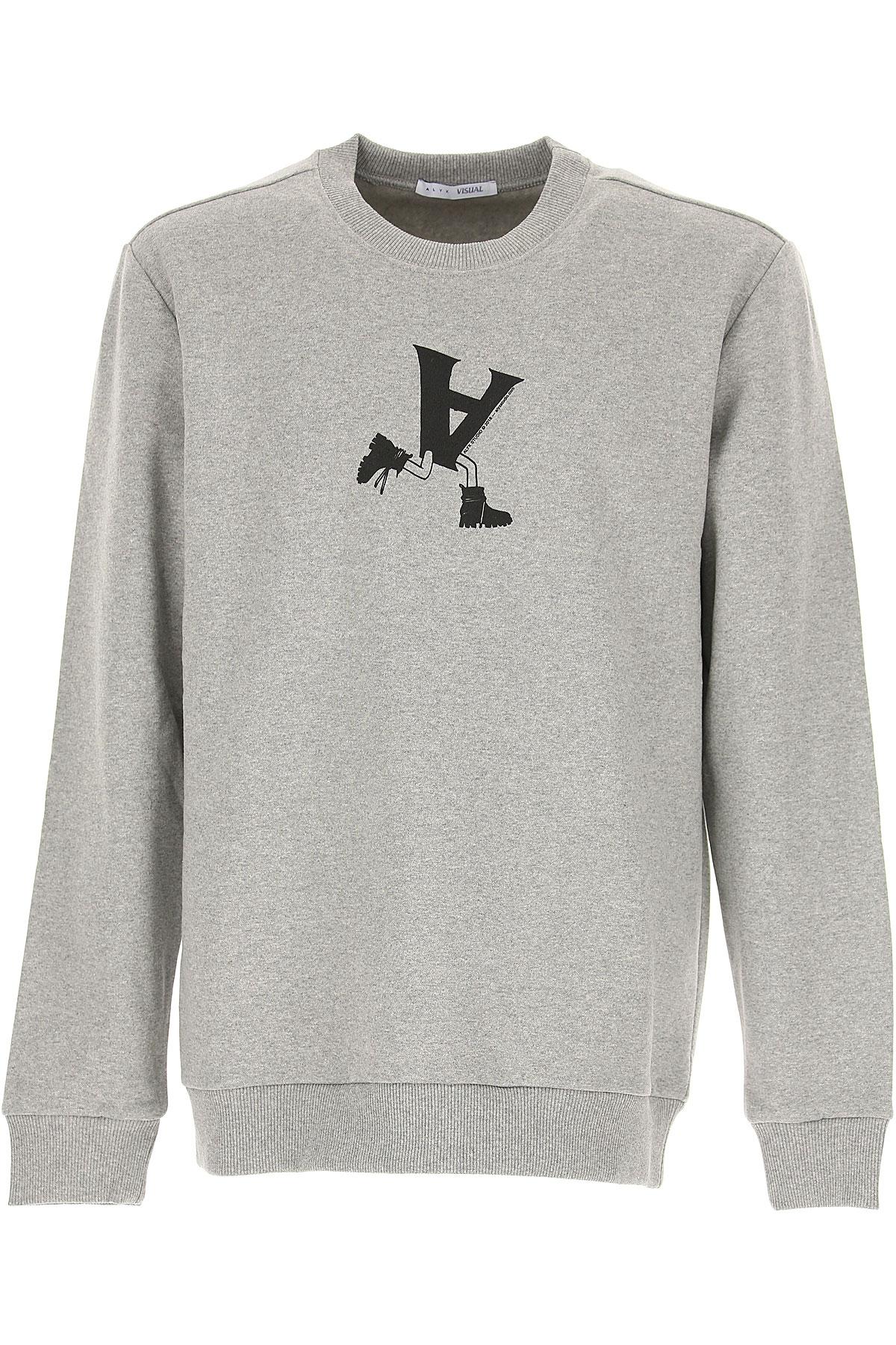 ALYX Sweatshirt for Men On Sale in Outlet, Grey Melange, Cotton, 2019, M S