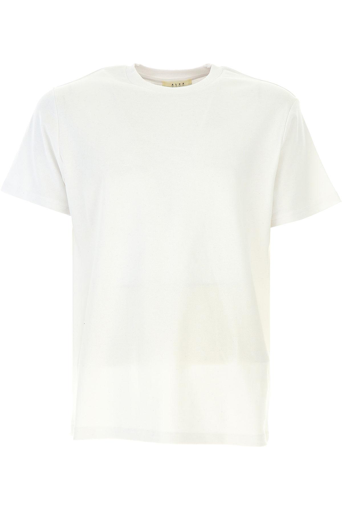 ALYX T-shirt Homme Pas cher en Soldes, Blanc, Coton, 2017, M S XS