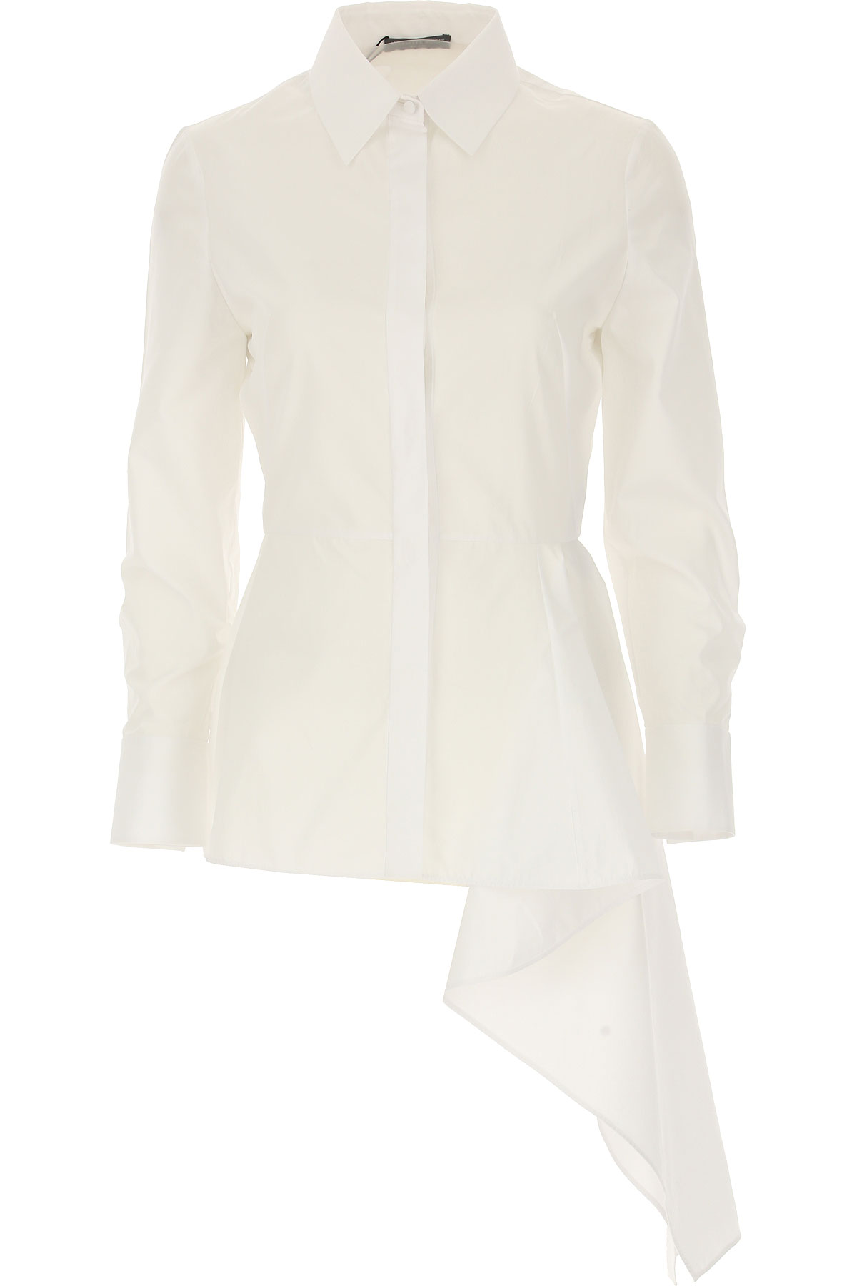 Image of Alexander McQueen Shirt for Women On Sale in Outlet, White, Cotton, 2017, 4 6