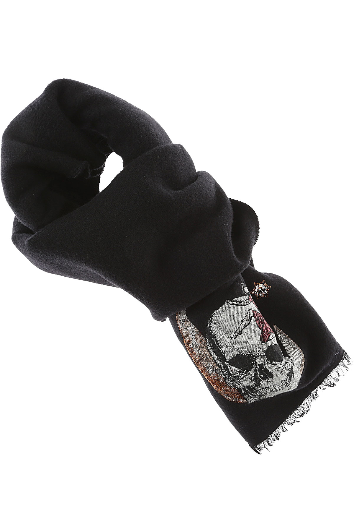 Image of Alexander McQueen Scarf for Women, Black, Wool, 2017