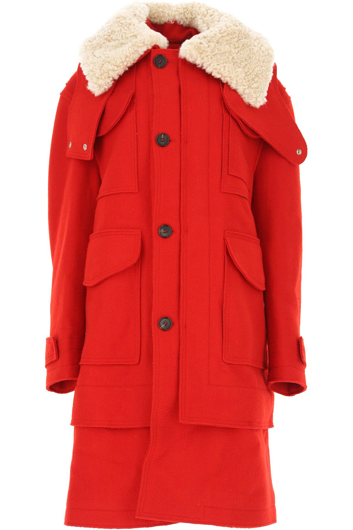 Image of Alexander McQueen Women\'s Coat, Red, Wool, 2017, 10 4 6 8