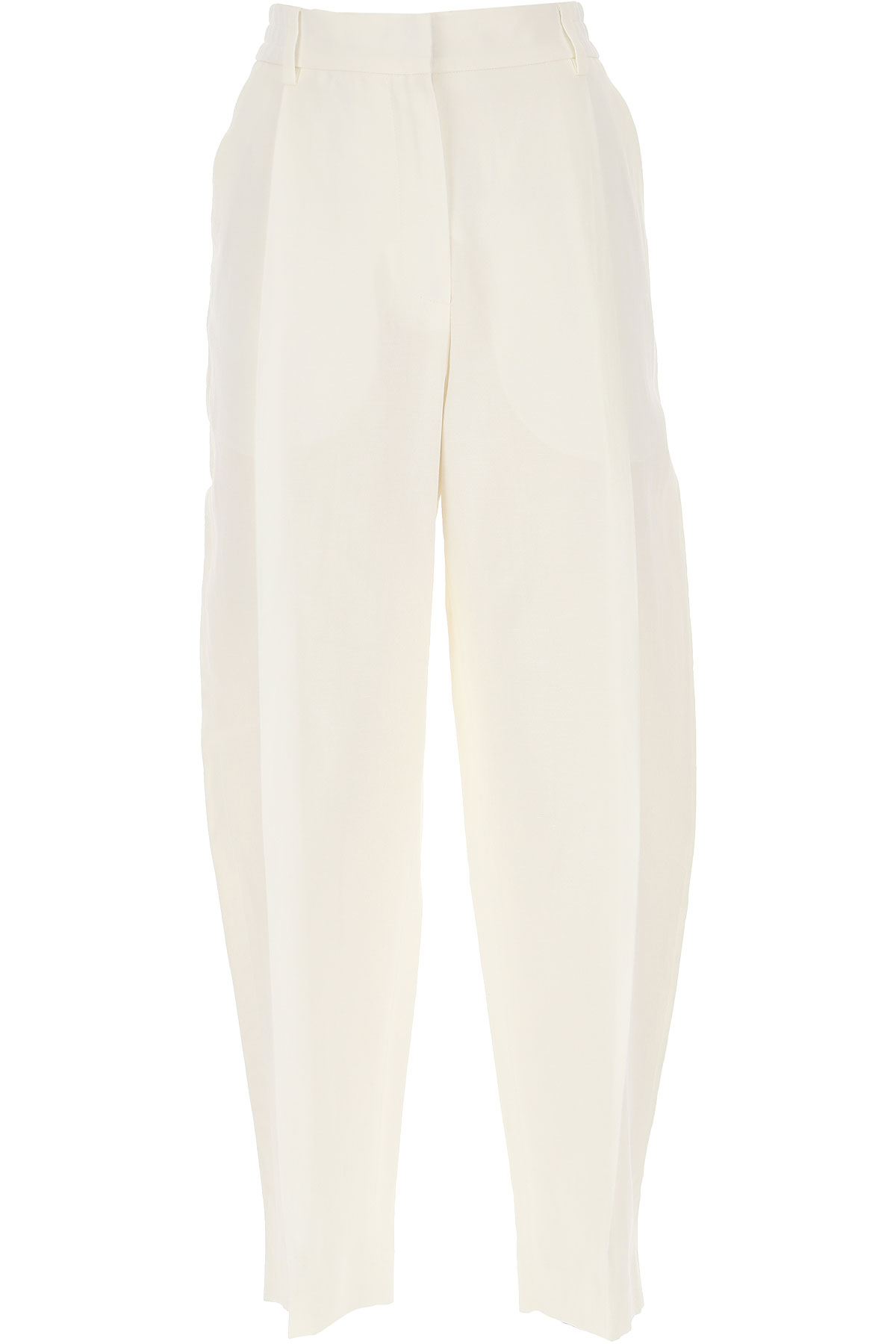 Alexander McQueen Pants for Women On Sale, White, Cotton, 2019, 28 30