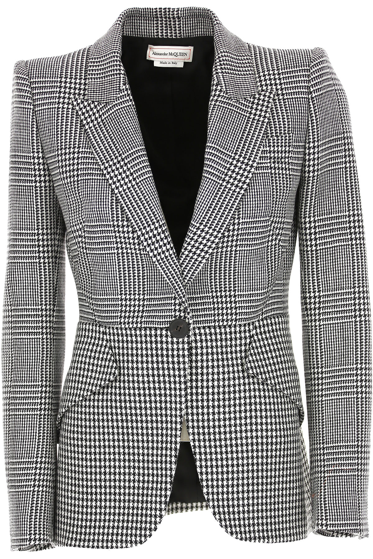 Alexander McQueen Blazer for Women On Sale, White, Wool, 2019, 6 8