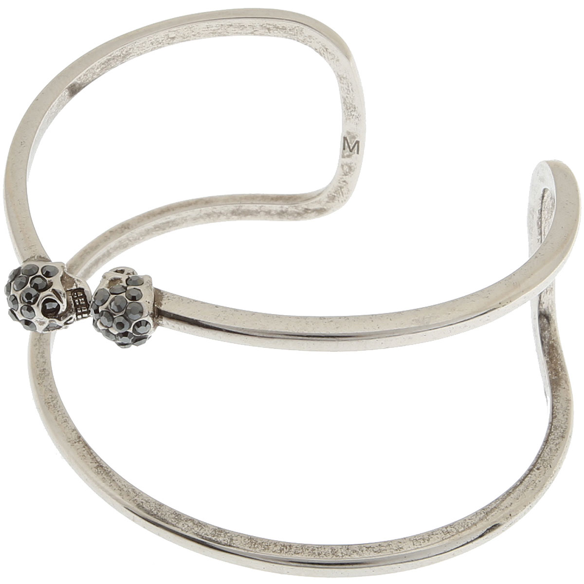 Alexander McQueen Bracelet for Women On Sale, Silver, Brass, 2019, Small - Medium Medium - Large