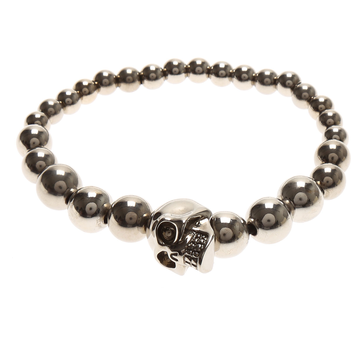 Alexander McQueen Bracelet for Men On Sale, Silver, Silver, 2019
