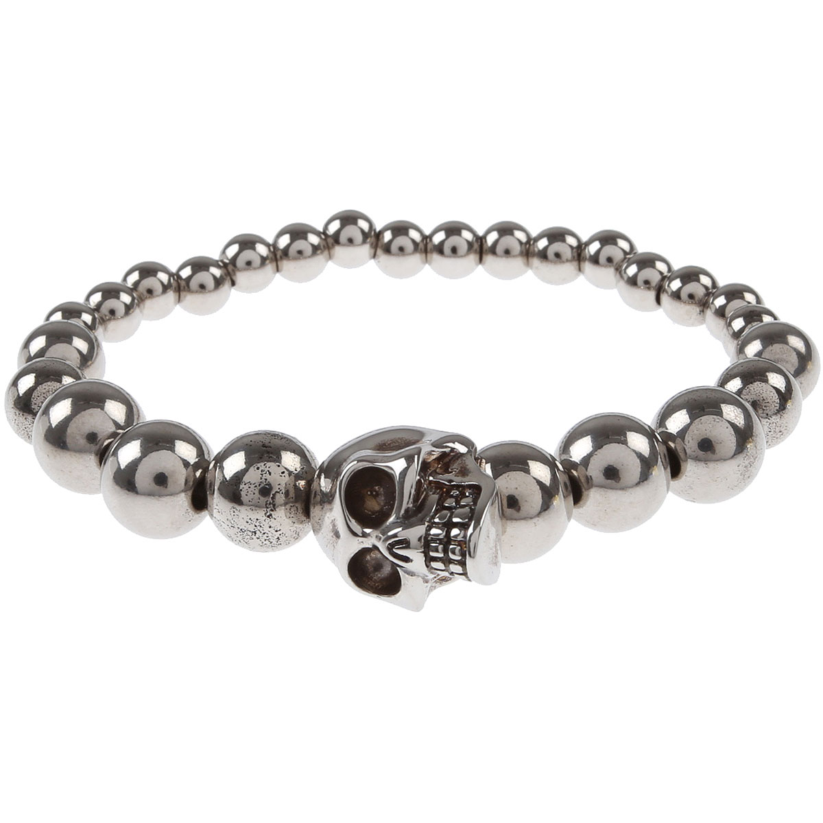 Alexander McQueen Bracelet for Men, Silver, Brass, 2019