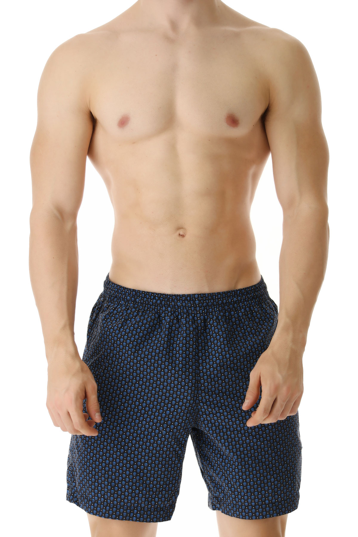 Alexander McQueen Swim Shorts Trunks for Men On Sale in Outlet, Blue, Nylon, 2019, S (EU 46) M (EU 48)