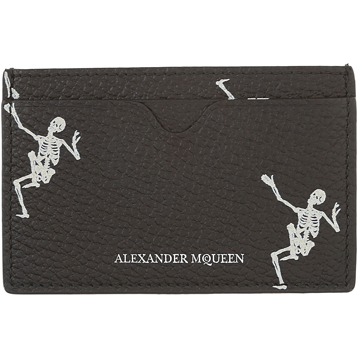 Image of Alexander McQueen Mens Wallets, Black, Leather, 2017