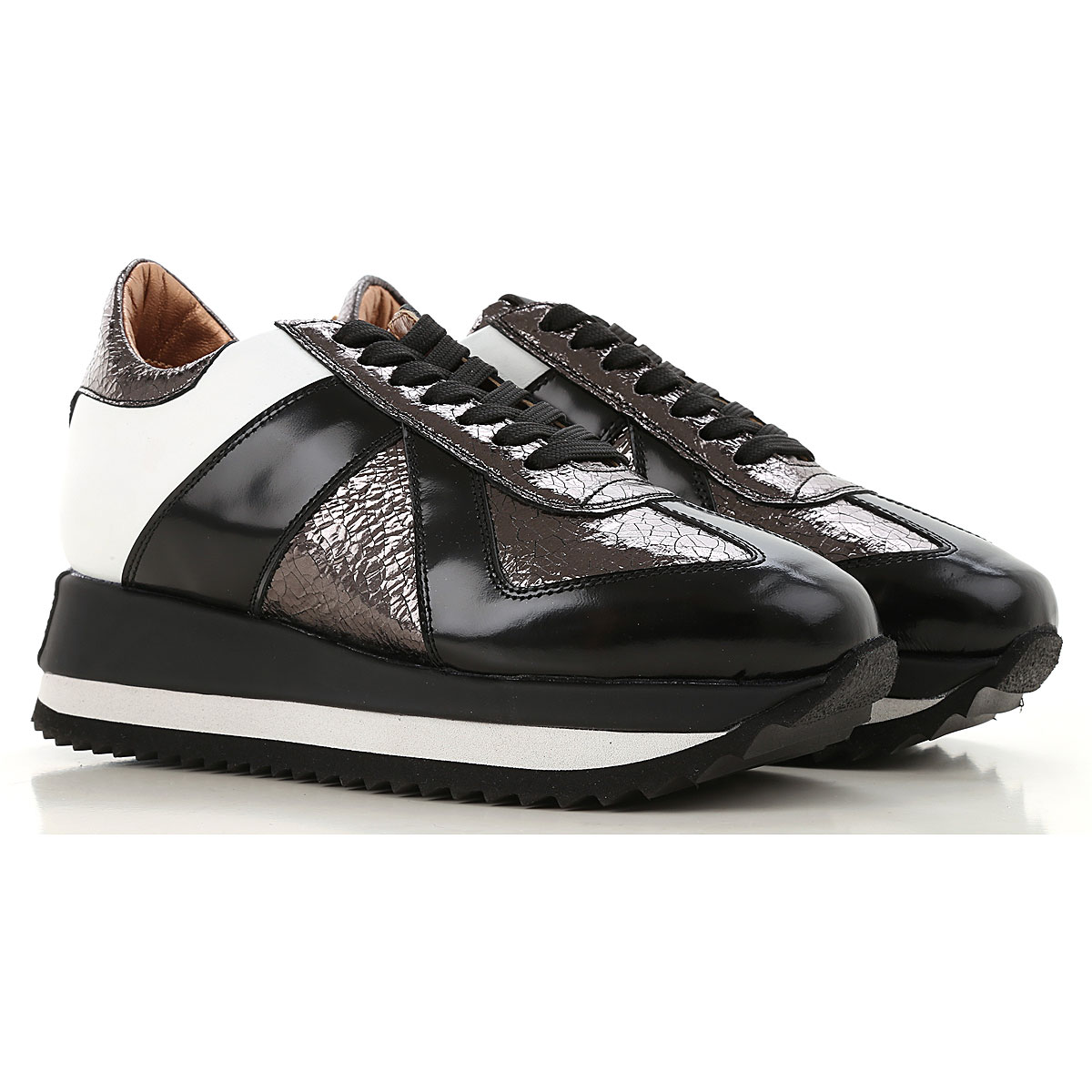 Image of Alexander Smith Sneakers for Women, Graphite, Leather, 2017, 6 8