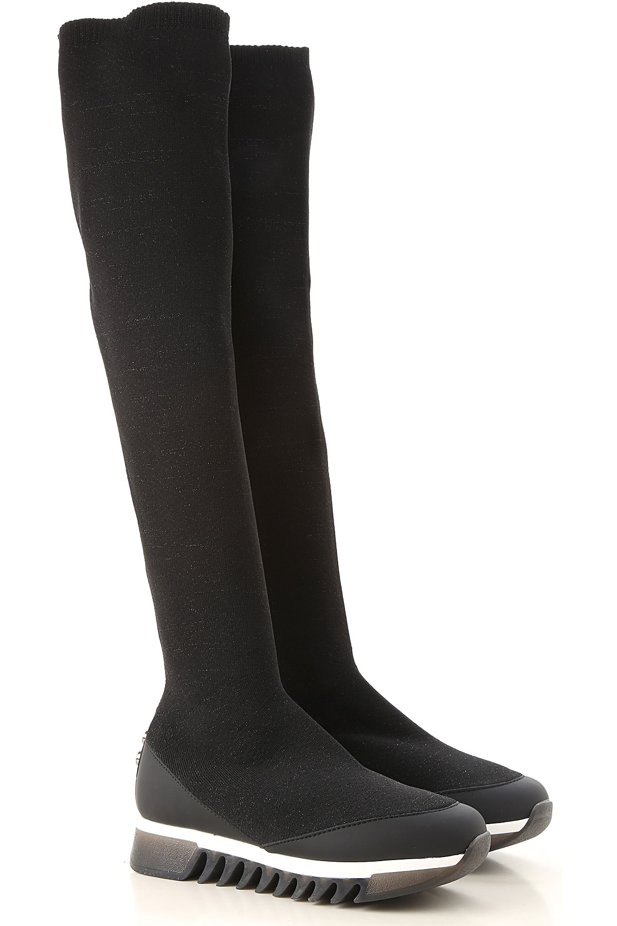 Image of Alexander Smith Boots for Women, Booties, Black, Fabric, 2017, 6 7 8 9