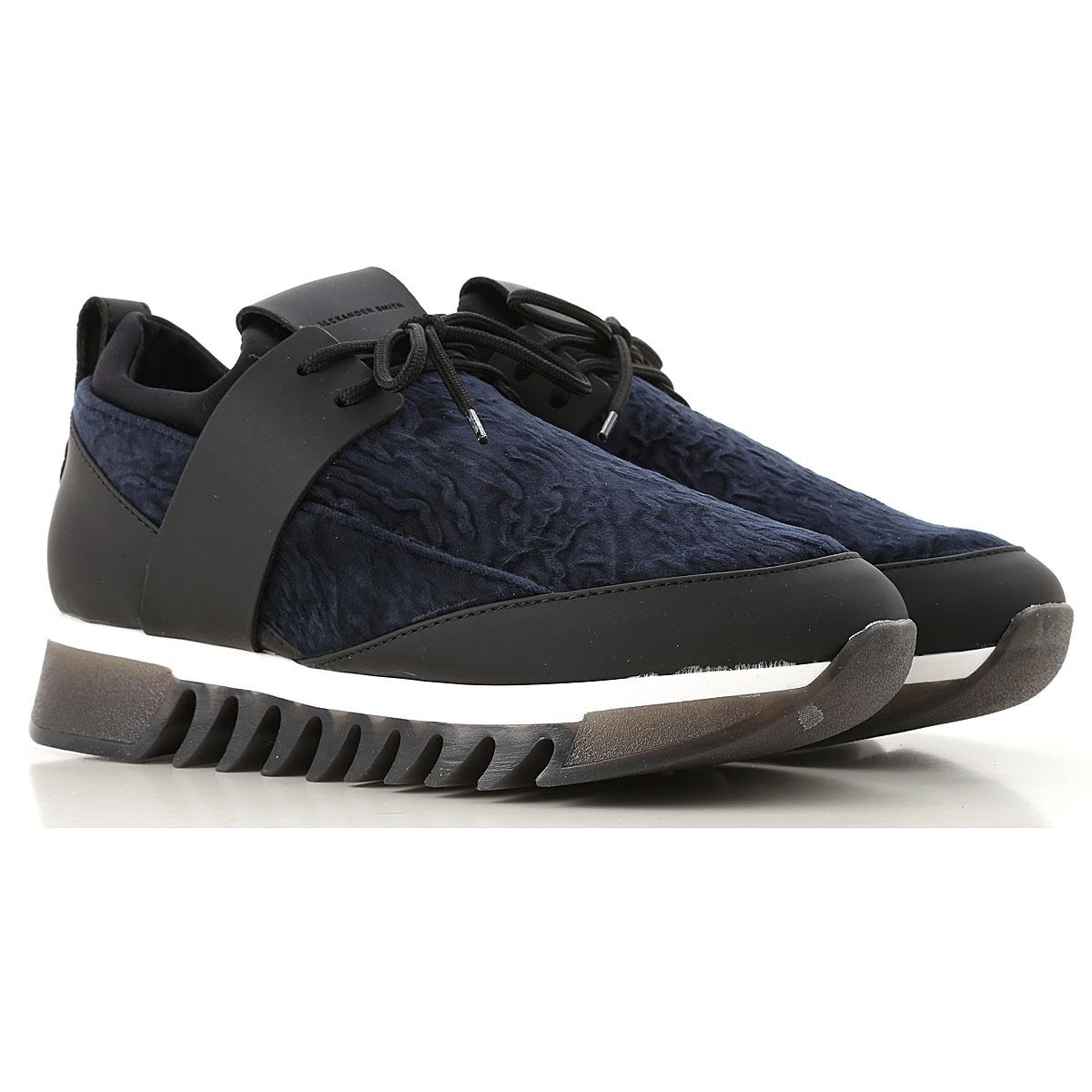 Image of Alexander Smith Sneakers for Women, Dark Blue, Velvet, 2017, 10 6 8 9