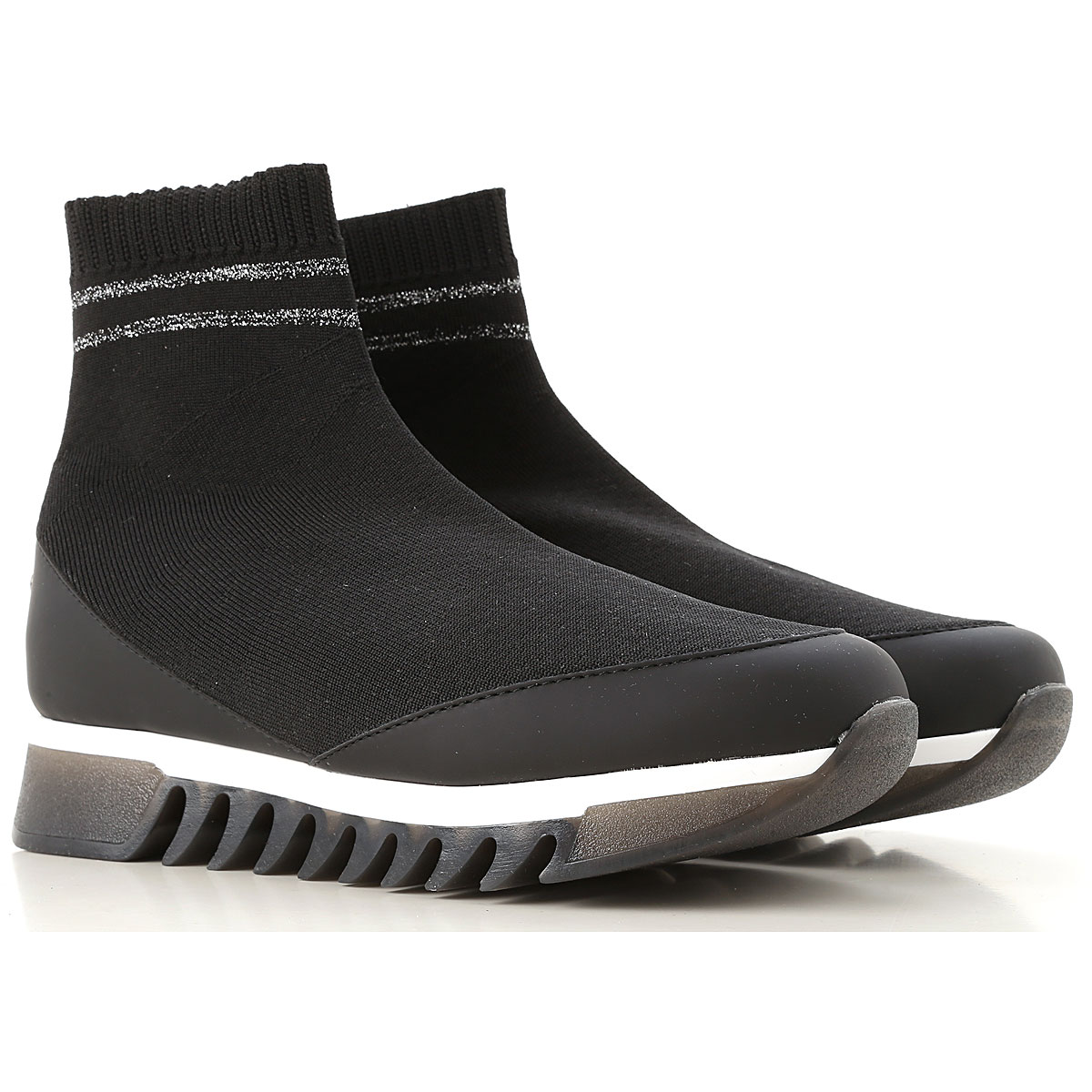 Image of Alexander Smith Boots for Women, Booties, Black, Fabric, 2017, 10 6 8