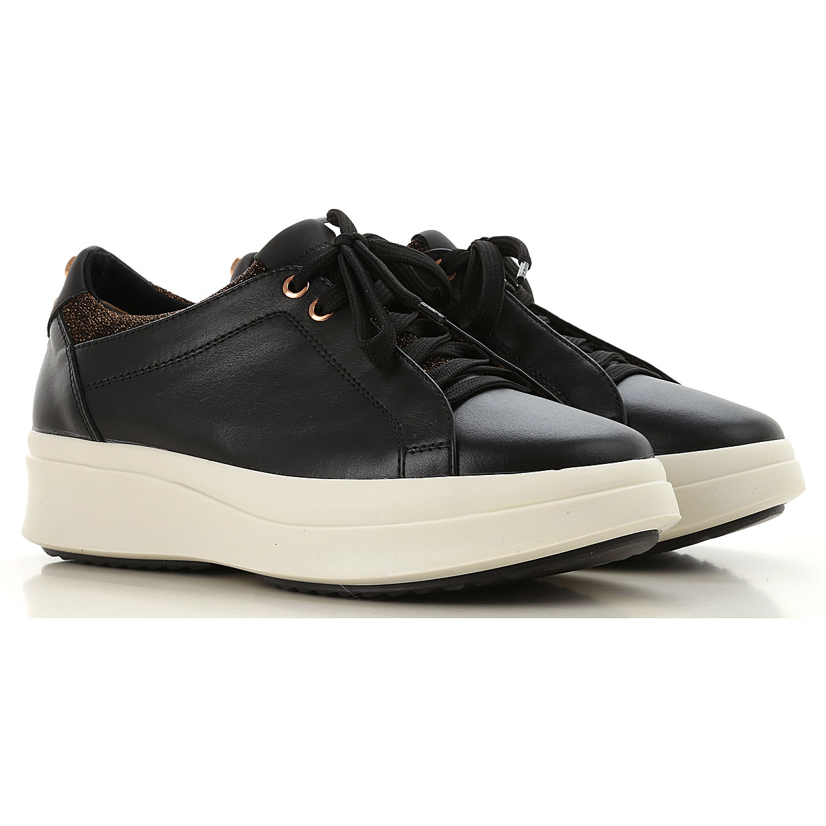 Image of Alexander Smith Sneakers for Women, Black, Leather, 2017, 10 6 7 8