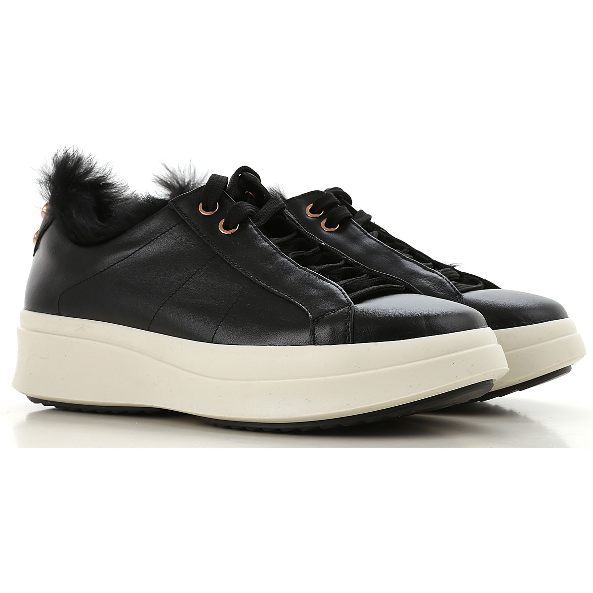 Image of Alexander Smith Sneakers for Women, Black, Leather, 2017, 6 7 8 9