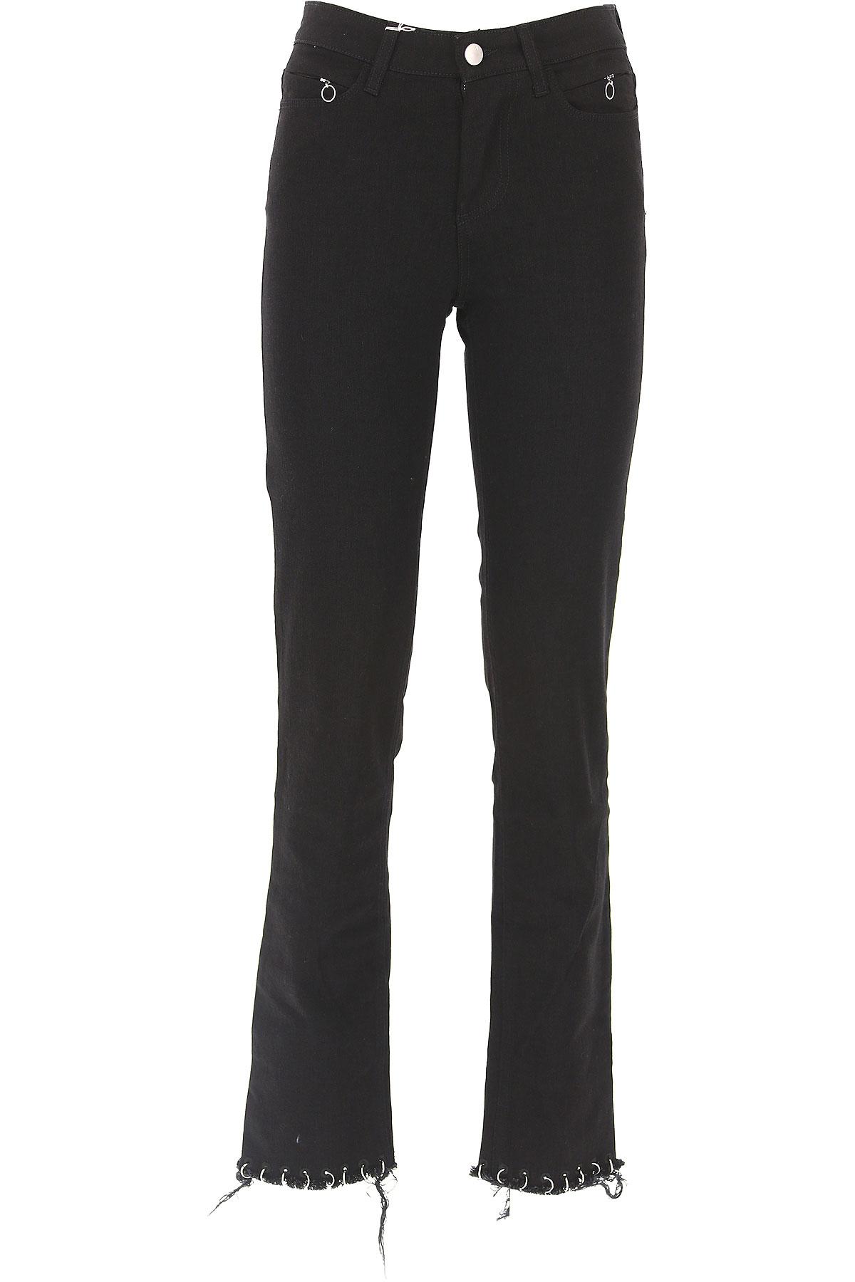 ALYX Pantalon Femme Pas cher en Soldes, Noir, Coton, 2017, 40 41 42