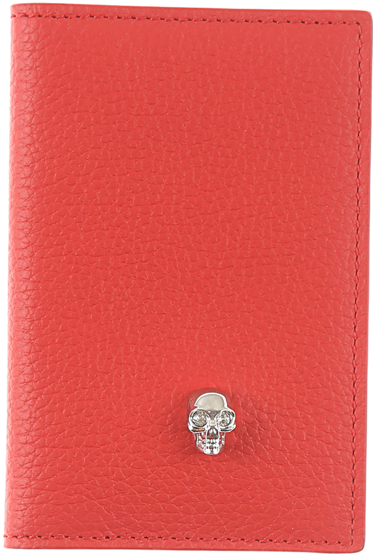 Image of Alexander McQueen Wallet for Women, Light Red, Leather, 2017
