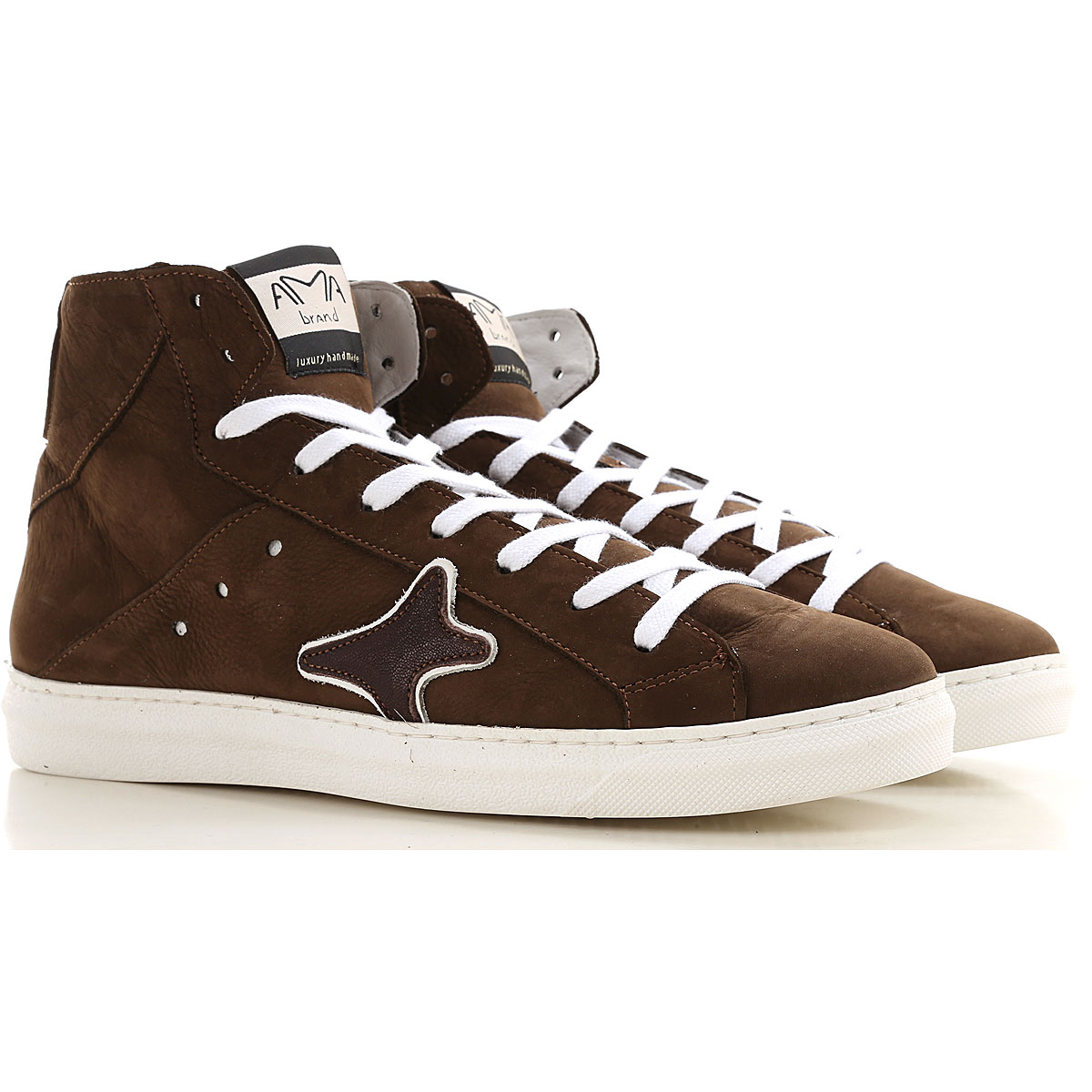 Ama Brand Sneakers for Men, Brown, Leather, 2019, EUR 40 - UK 6 - USA 7 EUR 42 - UK 8 - USA 8.5 EUR 43 - UK 9 - USA 9.5 EUR 44 - UK 9.5 - USA 10 EUR 4