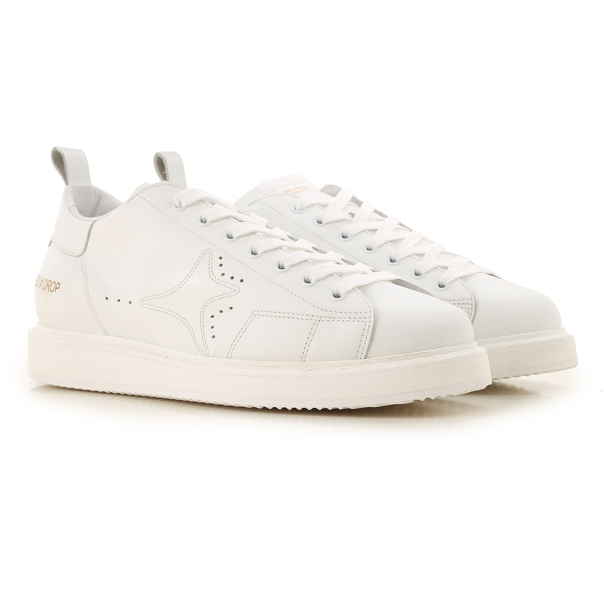 Ama Brand Sneakers for Men On Sale, White, Leather, 2019, EUR 40 - UK 6 - USA 7 EUR 43 - UK 9 - USA 9.5 EUR 44 - UK 9.5 - USA 10 EUR 45 - UK 10.5 - US