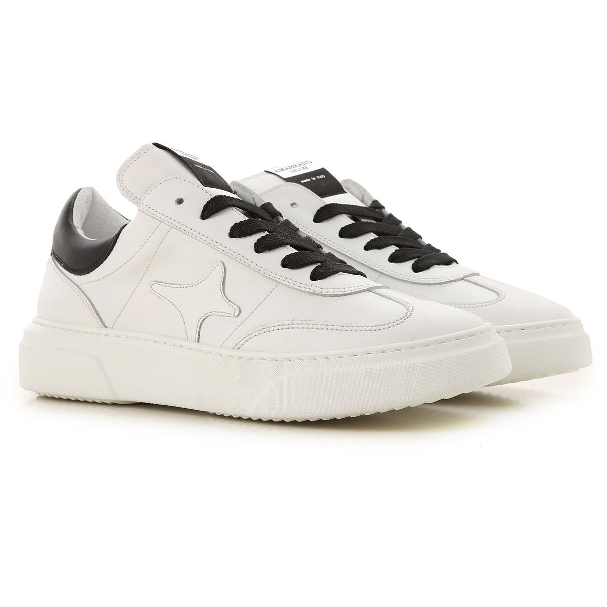 Ama Brand Sneakers for Men, White, Leather, 2019, EUR 40 - UK 6 - USA 7 EUR 43 - UK 9 - USA 9.5 EUR 41 - US 8 - UK 7