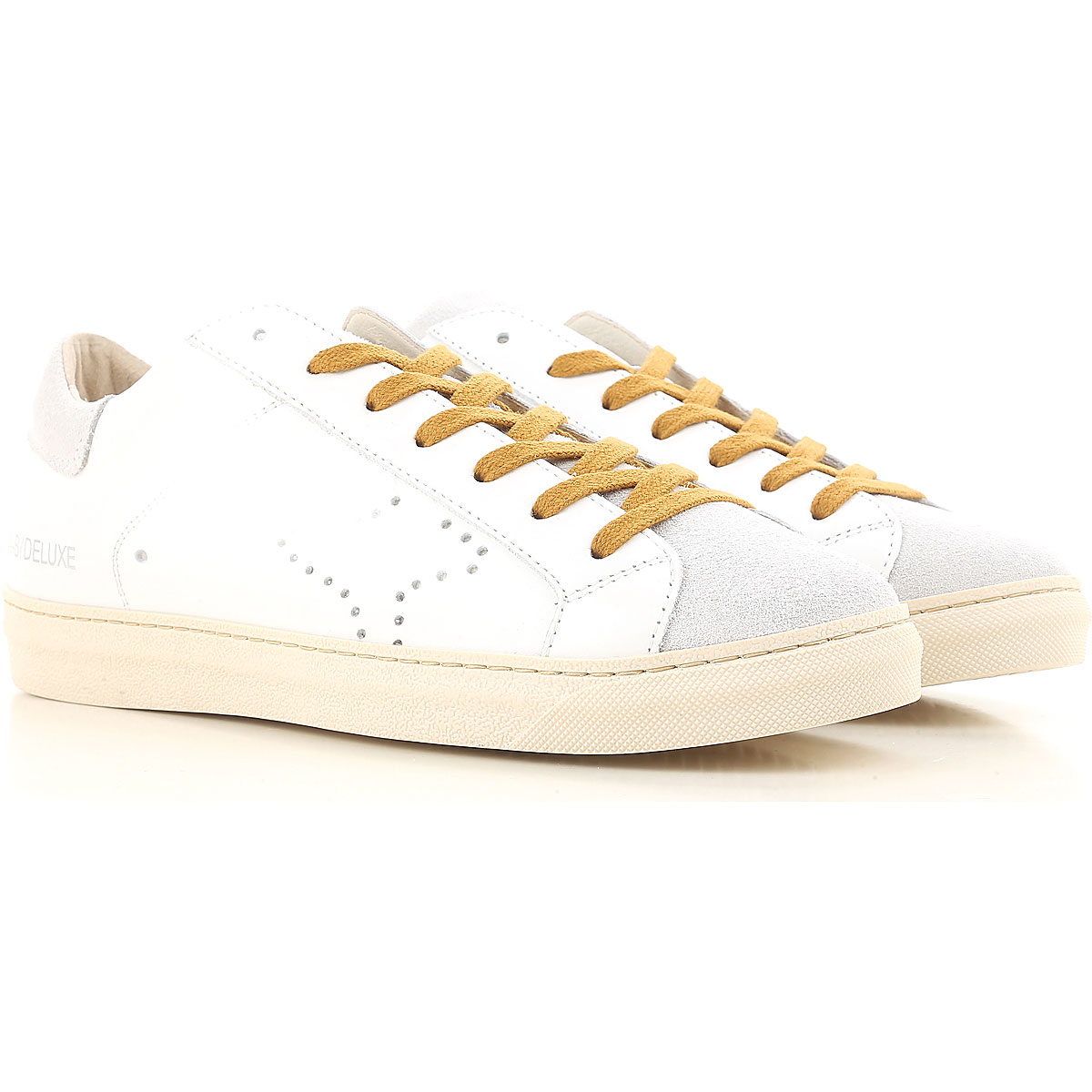 Image of Ama Brand Sneakers for Men On Sale, White, Leather, 2017, EUR 40 - UK 6 - USA 7 EUR 42 - UK 8 - USA 8.5 EUR 44 - UK 9.5 - USA 10 EUR 41 - US 8 - UK 7
