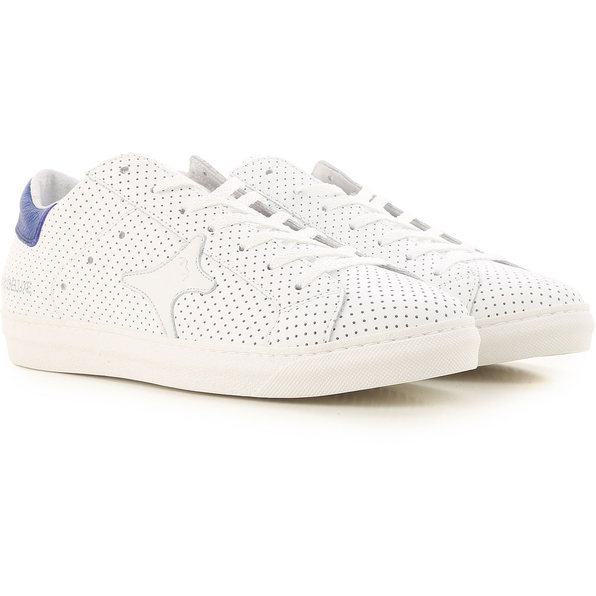 Image of Ama Brand Sneakers for Men On Sale, White, Leather, 2017, EUR 42 - UK 8 - USA 8.5 EUR 43 - UK 9 - USA 9.5 EUR 44 - UK 9.5 - USA 10 EUR 45 - UK 10.5 - USA 11 EUR 41 - US 8 - UK 7