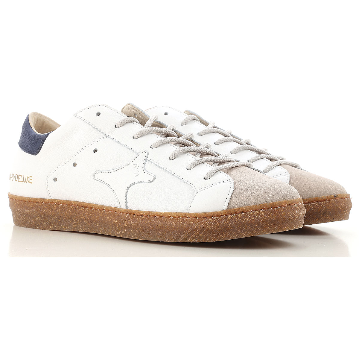 Image of Ama Brand Sneakers for Men On Sale, White, Leather, 2017, EUR 40 - UK 6 - USA 7 EUR 43 - UK 9 - USA 9.5 EUR 45 - UK 10.5 - USA 11