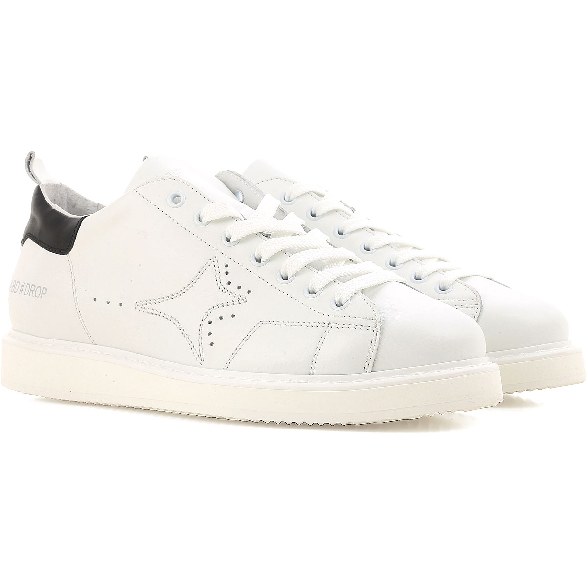 Image of Ama Brand Sneakers for Men On Sale, White, Leather, 2017, EUR 42 - UK 8 - USA 8.5 EUR 44 - UK 9.5 - USA 10