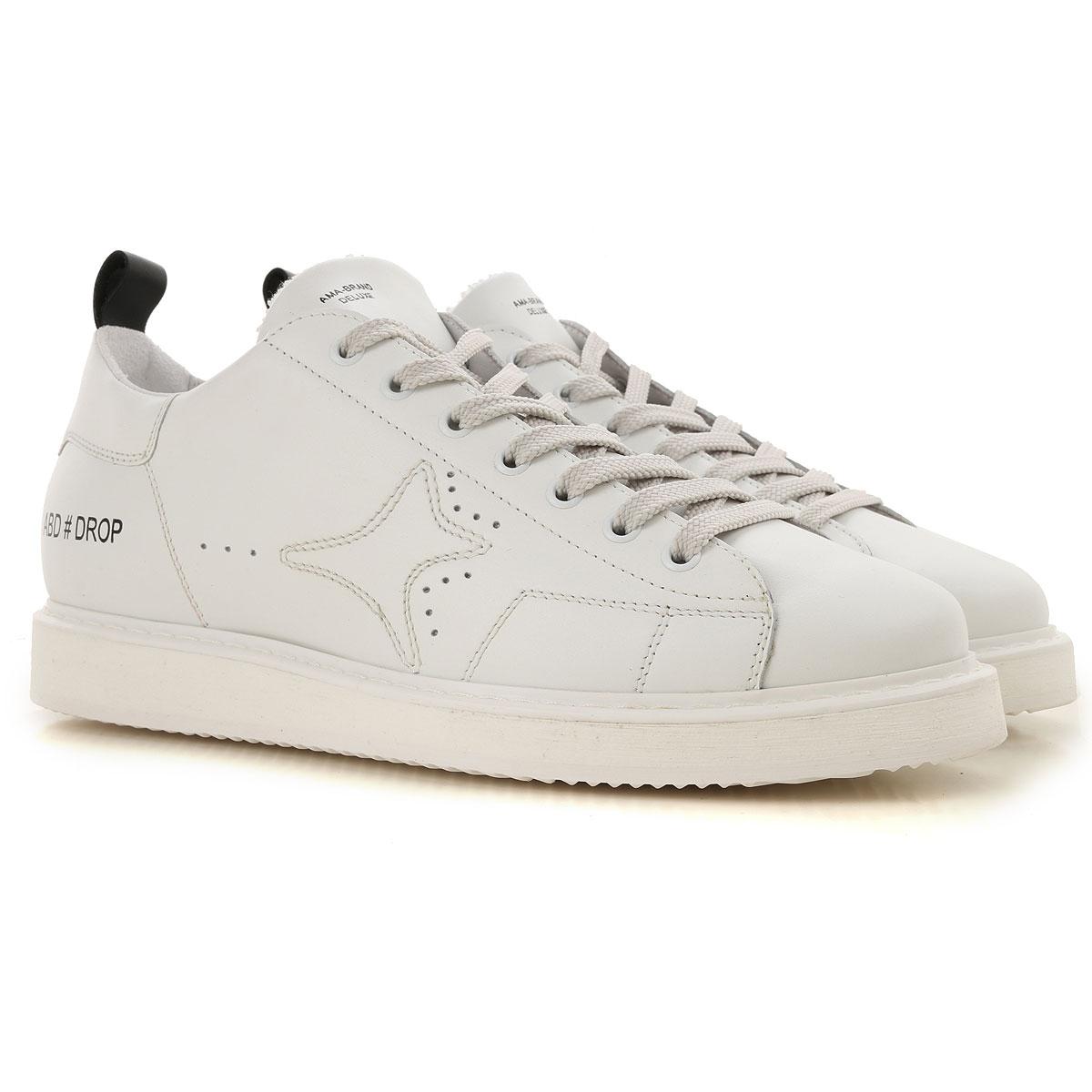 Ama Brand Sneaker Homme Pas cher en Soldes, Blanc, Cuir, 2017, 40 41 42 43 44